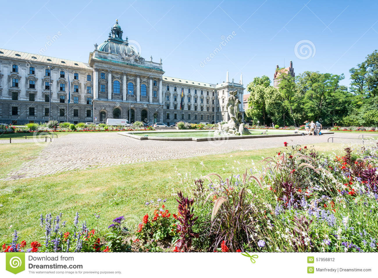alter botanischer garten and palace of justice in munich editorial photography image of people. Black Bedroom Furniture Sets. Home Design Ideas