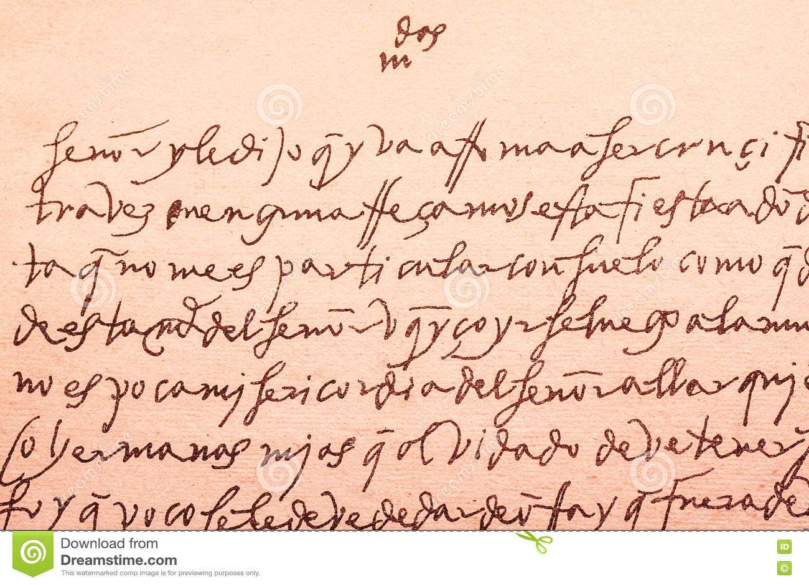 Alter Brief Geschrieben Auf Spanisch Xvi Vom Jahrhundert