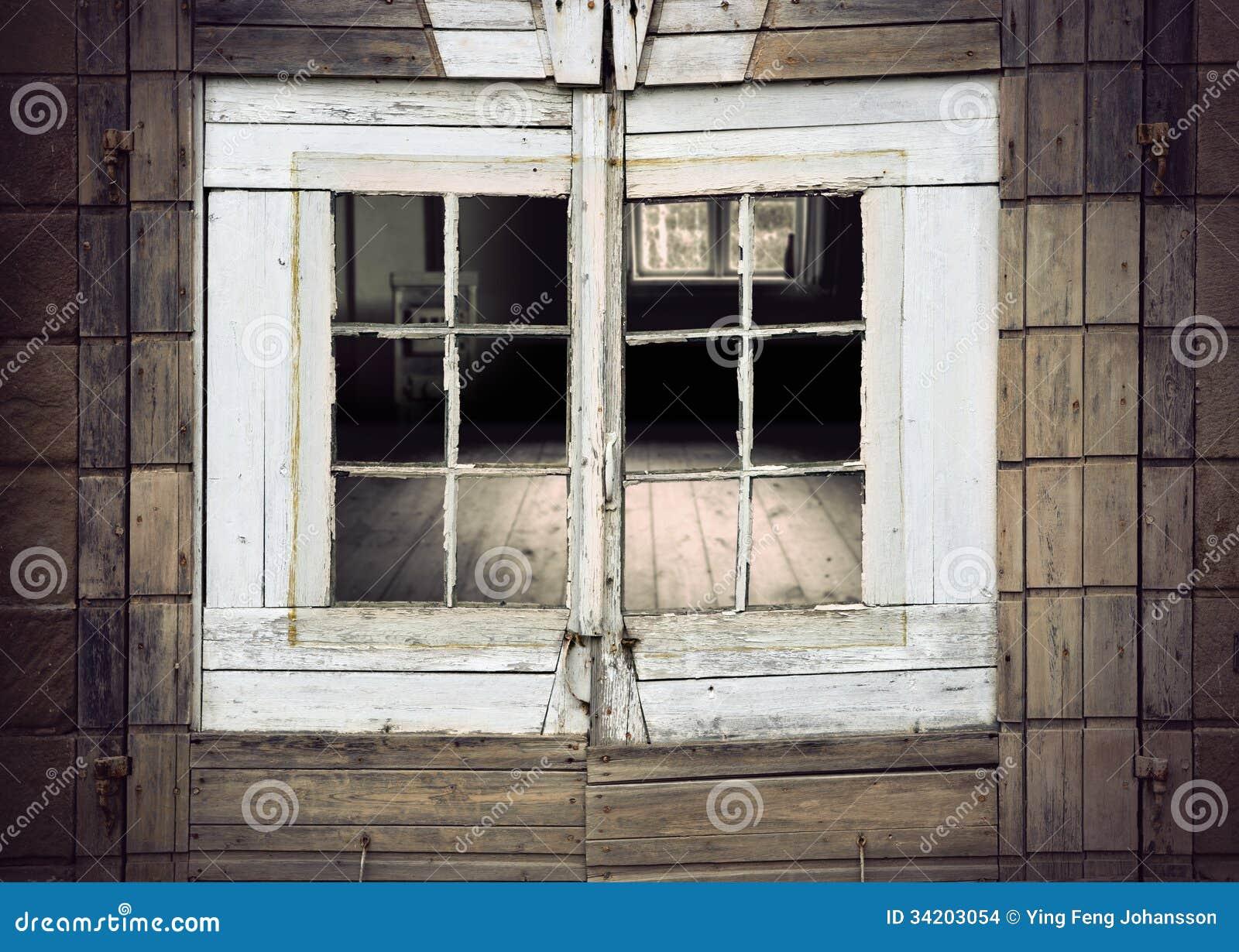 Alter Fensterrahmen stockfoto. Bild von feld, grunge - 34203054