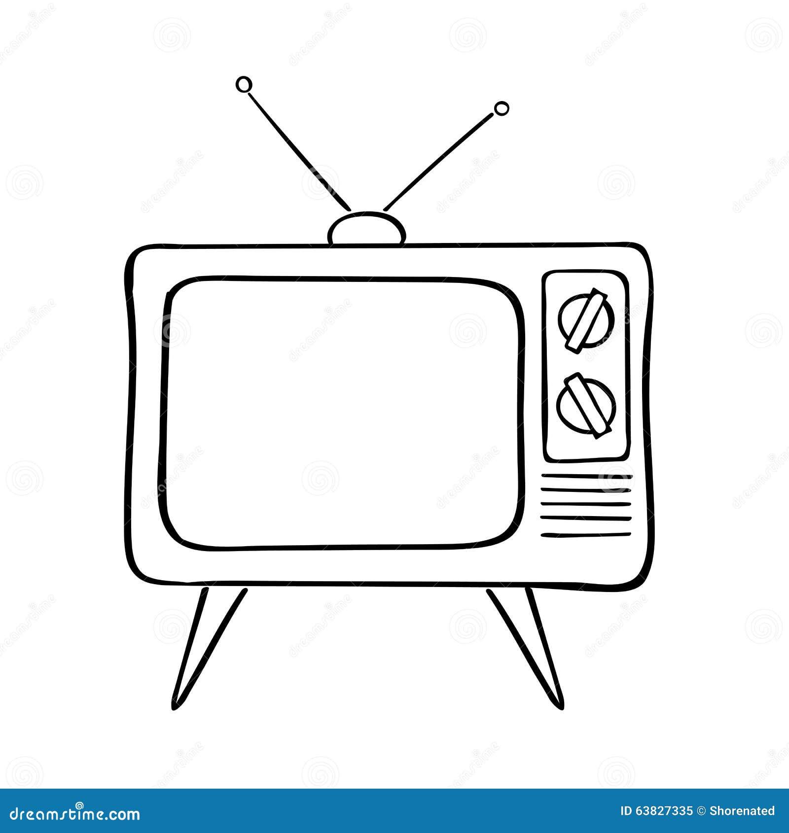 Zeichnung Fernseher