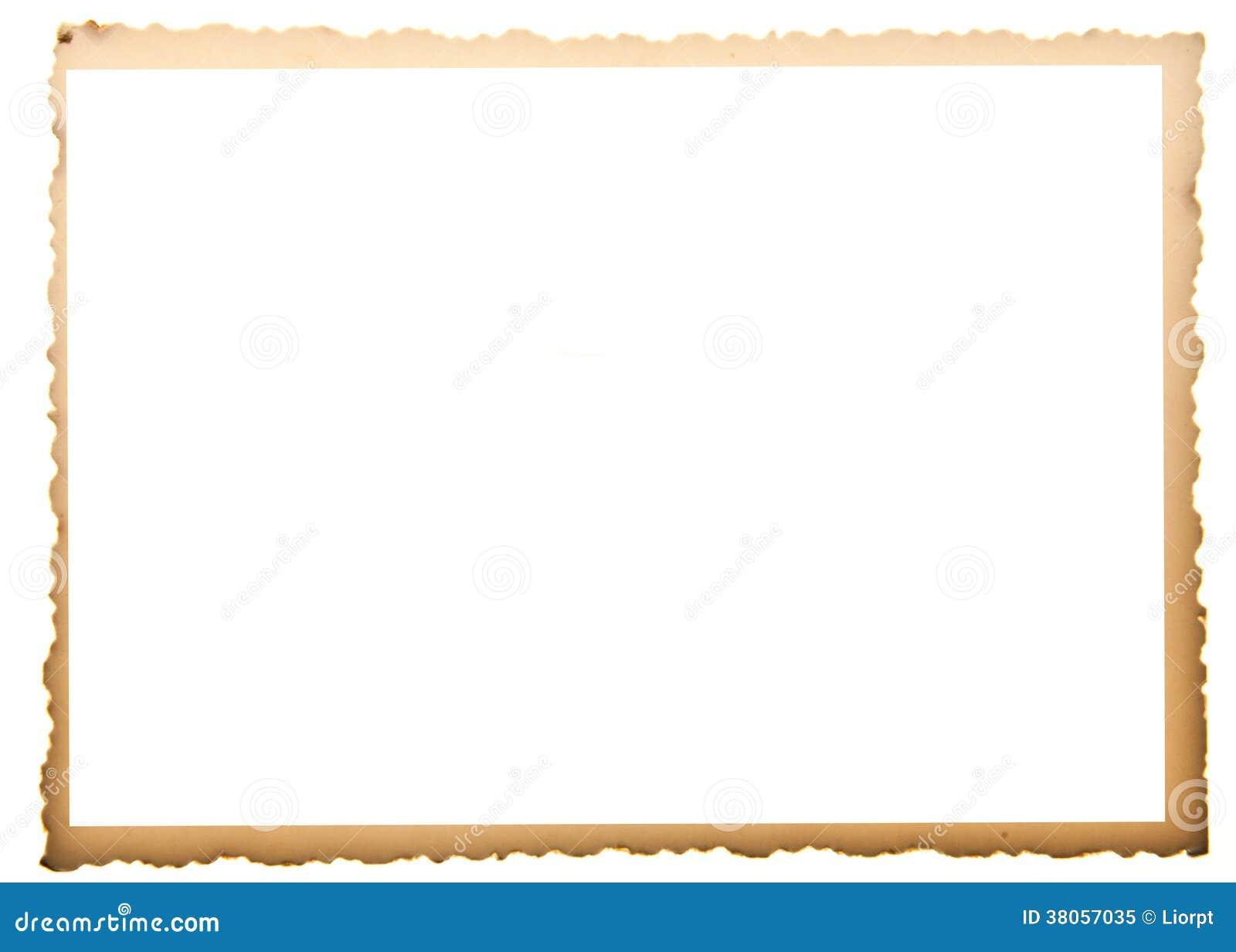 Alter Fotorahmen stockbild. Bild von papier, horizontal - 38057035