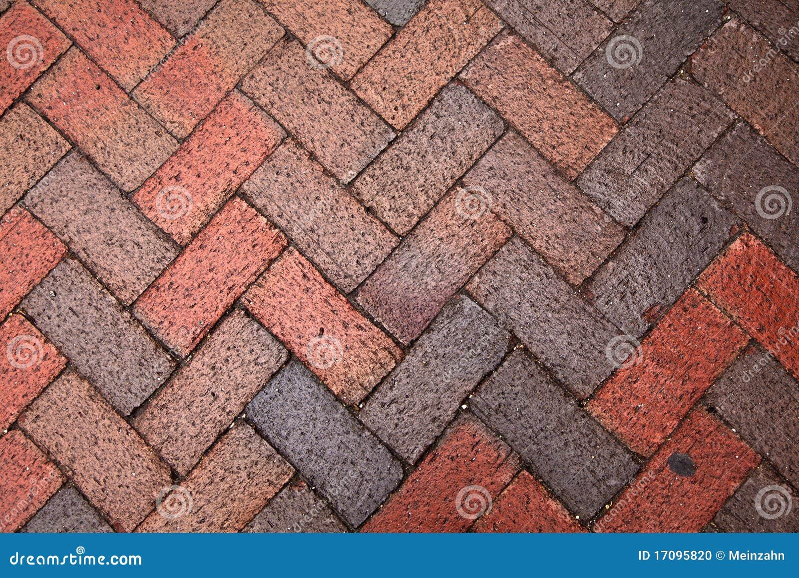Alter Fußgängerziegelstein paveway