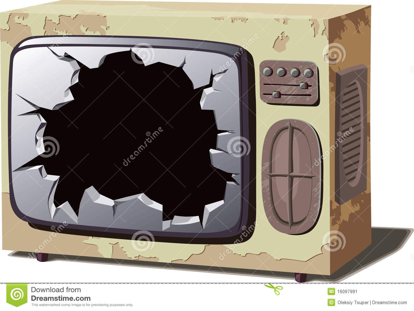 Alter gebrochener Fernseher