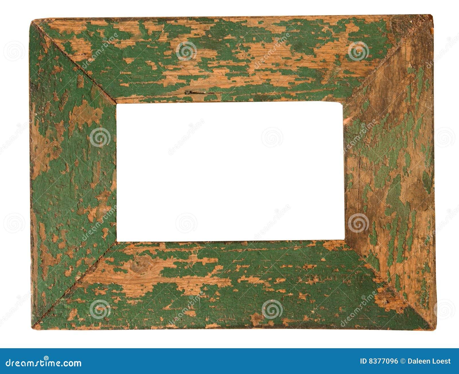 Alter grüner Bilderrahmen stockfoto. Bild von gemalt, gealtert - 8377096