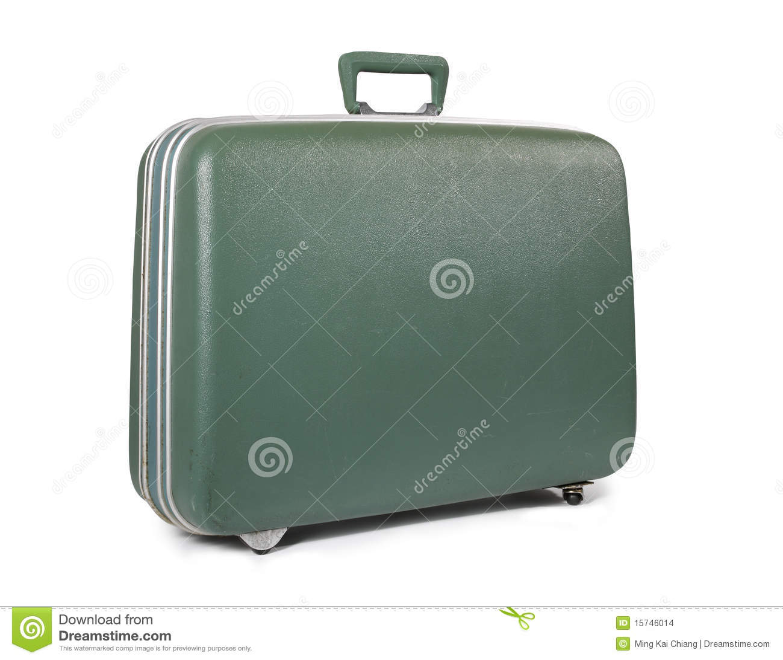 Alter grüner Koffer