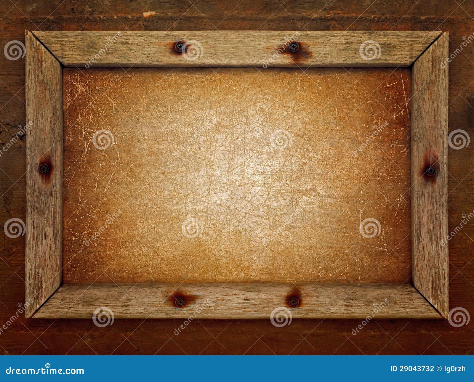 Alter Holzrahmen stockfoto. Bild von schmutzig, gealtert - 29043732