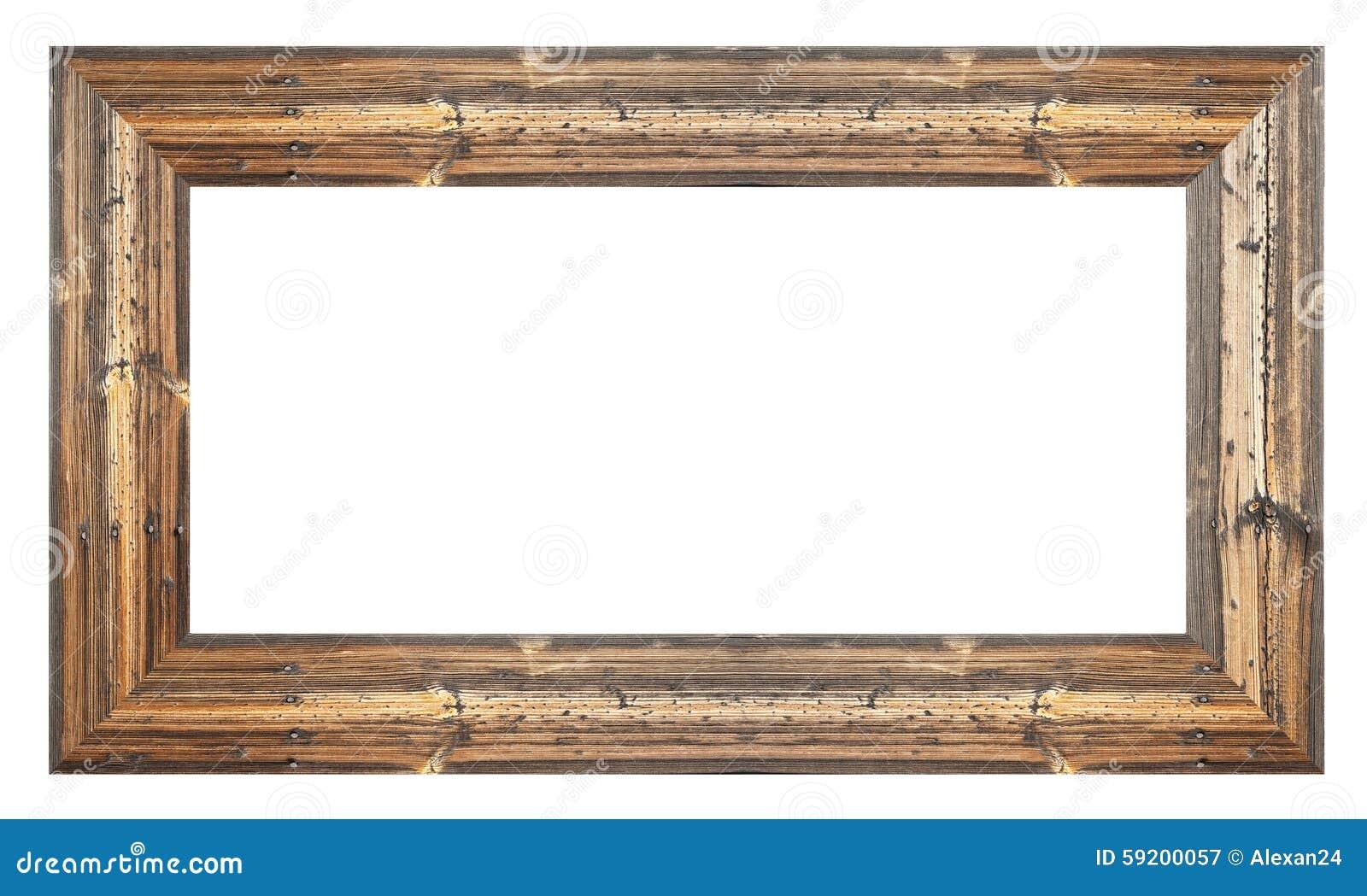 Alter Holzrahmen stockbild. Bild von vorstand, spiegel - 59200057