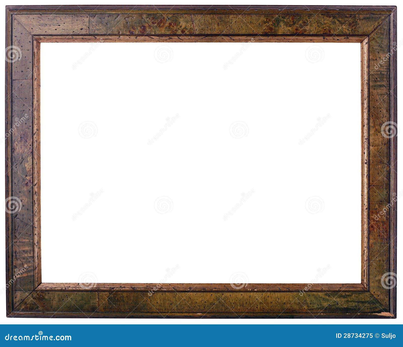 Alter Holzrahmen-Ausschnitt Browns Stockfoto - Bild von fotographie ...