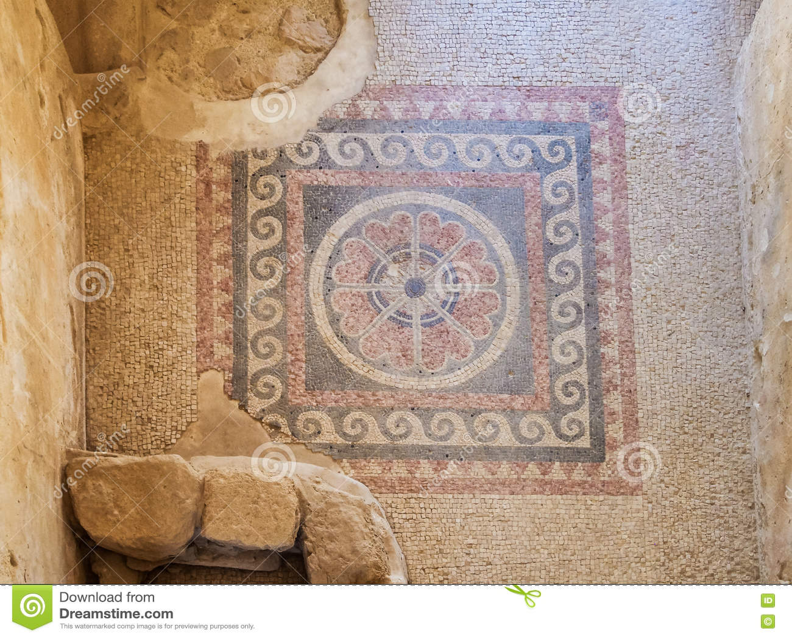 Fußboden König ~ Alter mosaikfußboden masada festung israel stockfoto bild von