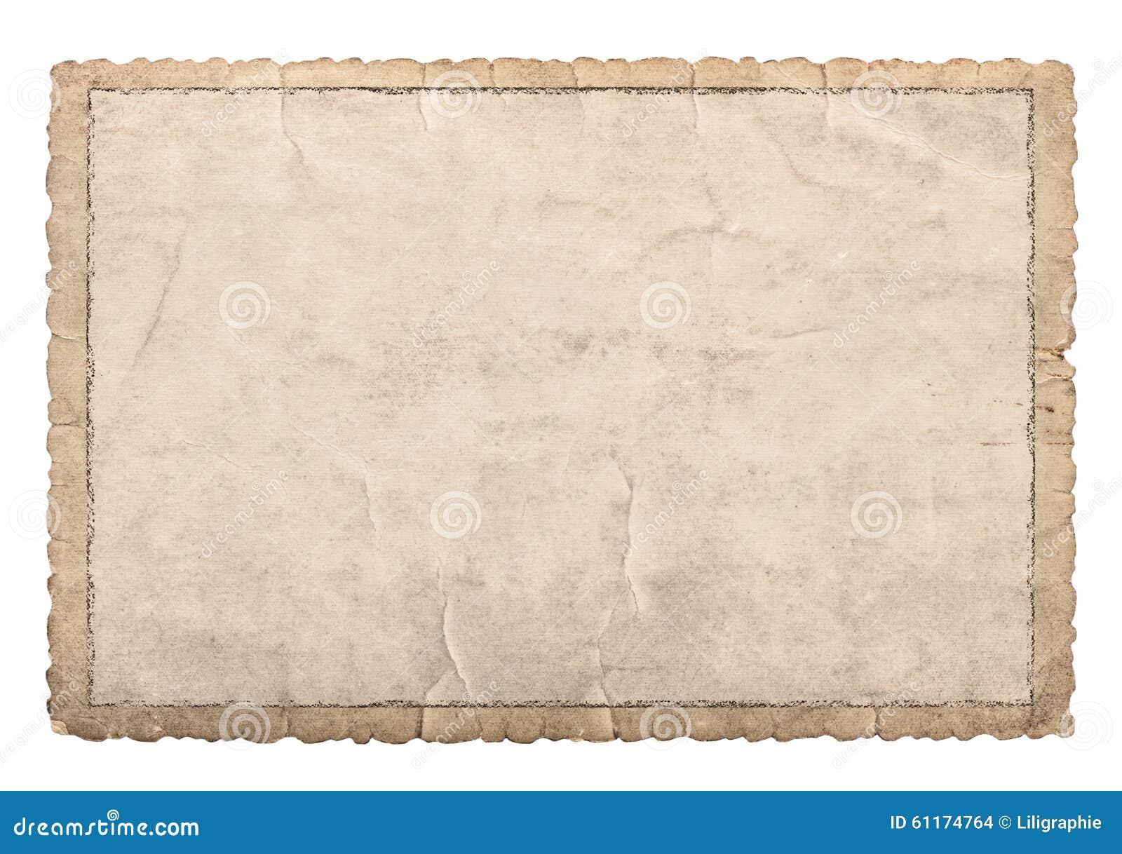 Alter Papierrahmen Mit Geschnitzten Rändern Für Fotos Und Bilder ...