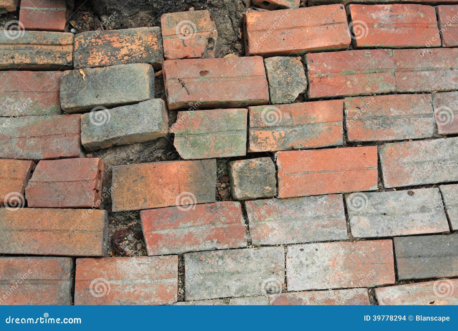 Fußbodenbelag  Alter Rauer Fußbodenbelag Des Roten Backsteins Stockfoto - Bild ...