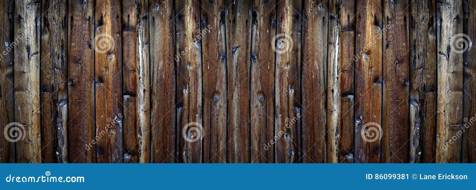 Alter Rauer Holzerner Planken Zaun Texture Stockbild Bild Von