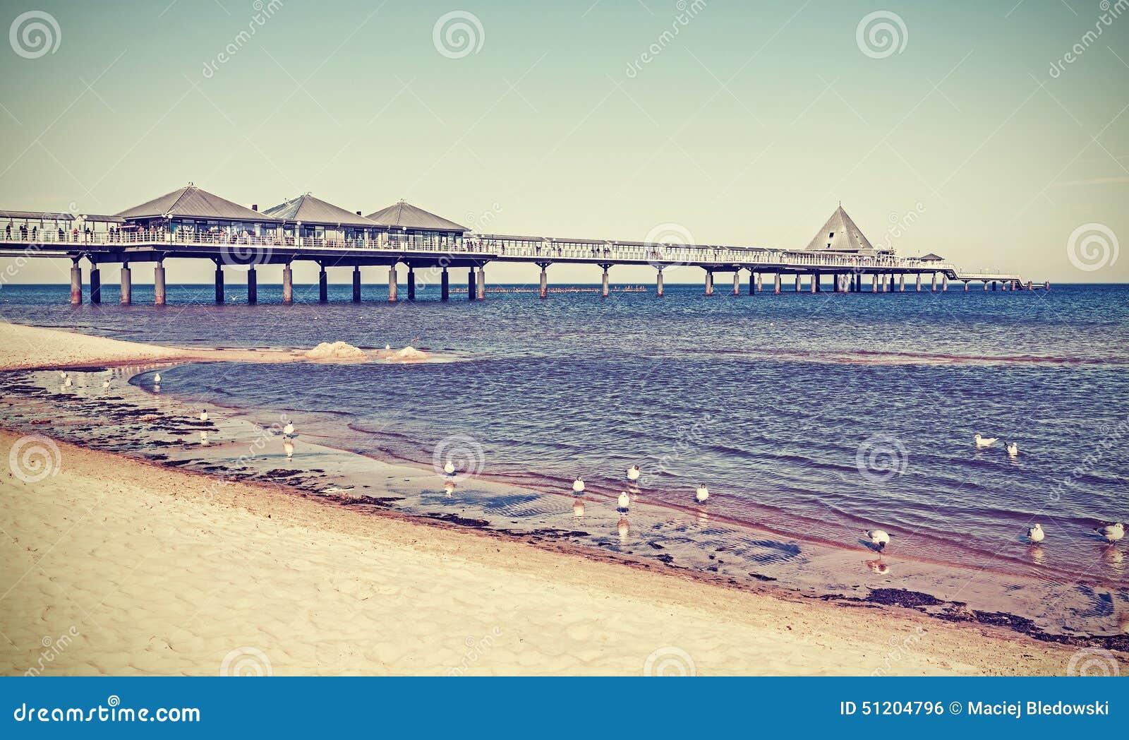 Alter Retrostil gefiltertes Bild eines Piers