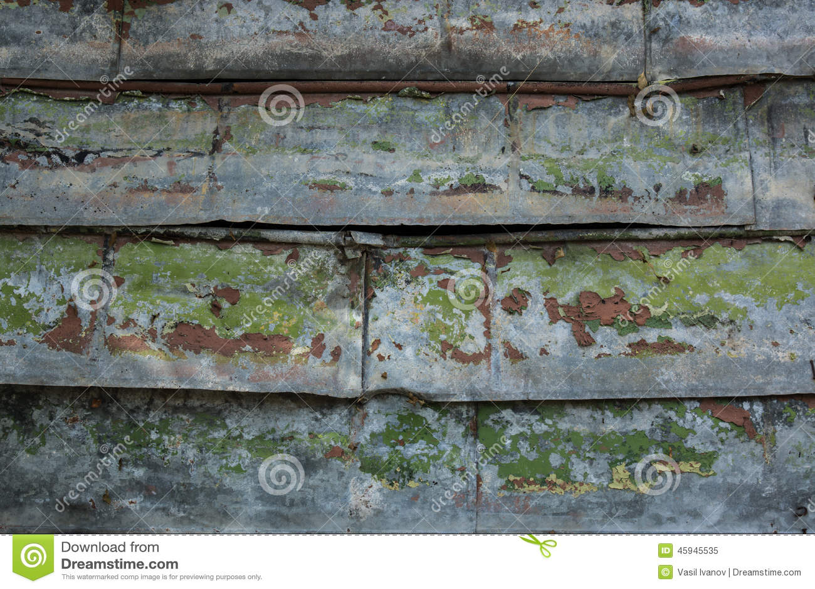 Alter Rostiger Zaun Stockbild Bild Von Zink Eisen Wand 45945535