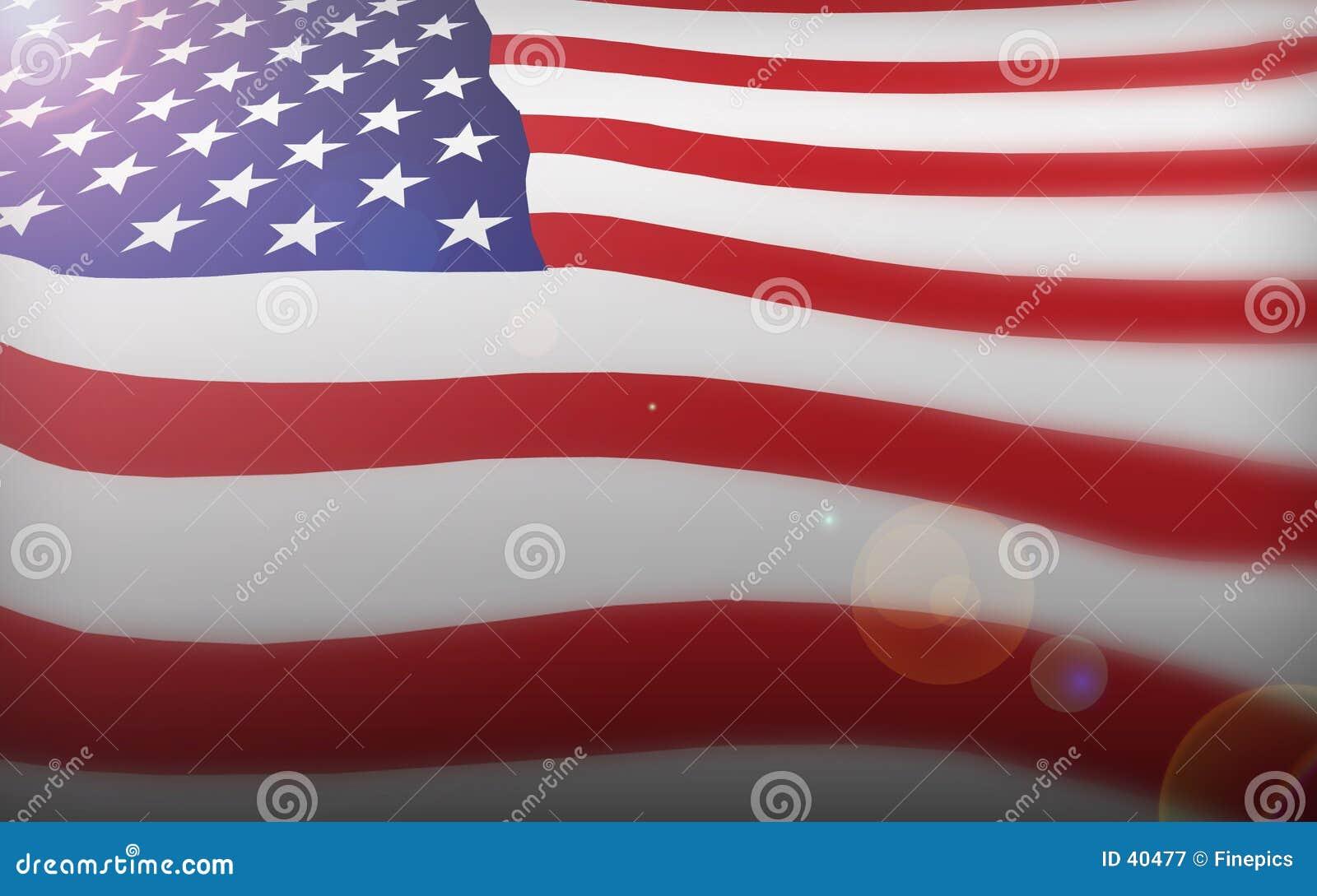 Alter Ruhm der amerikanischen Flagge