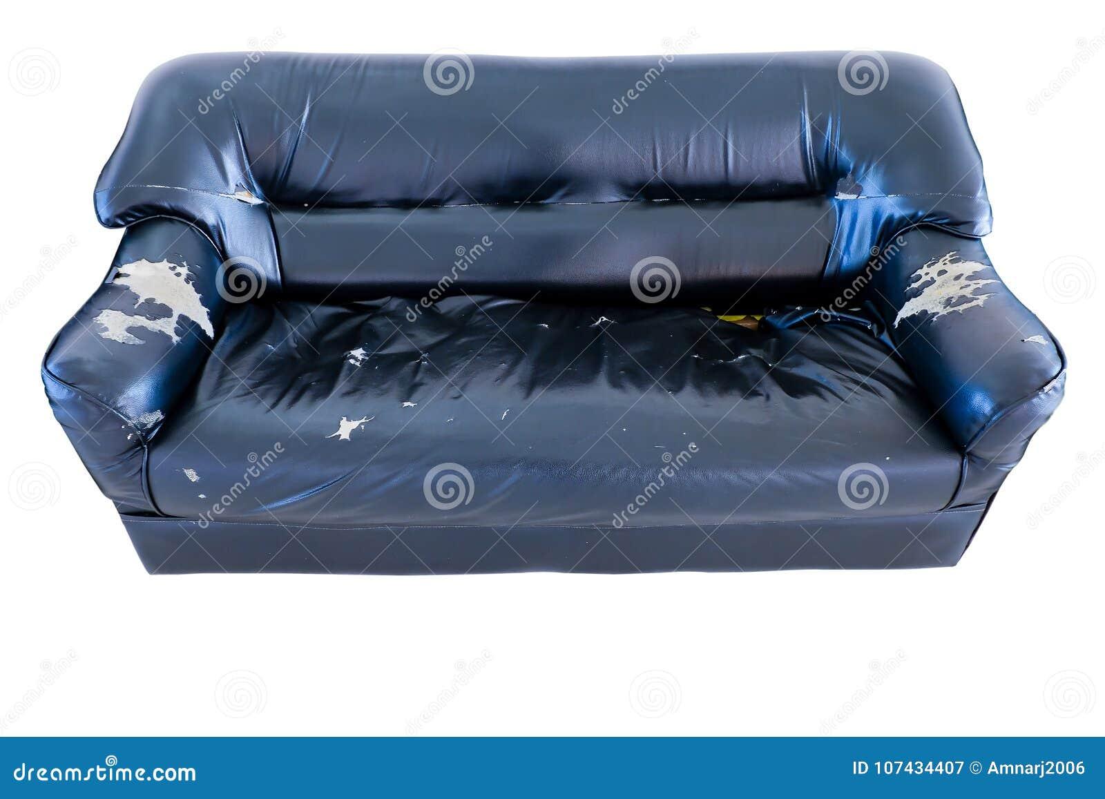 alter schmutz der weinlese zerriss verlassene couch oder sofa stockbild bild von ansammlung. Black Bedroom Furniture Sets. Home Design Ideas