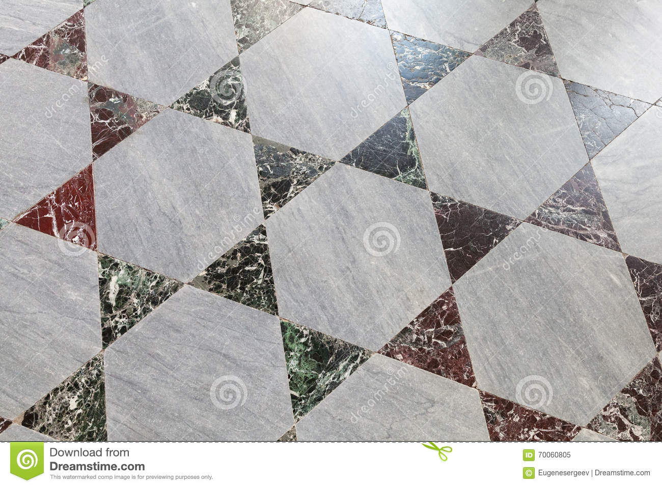 Alter Steinboden Tiling, polygonales Muster