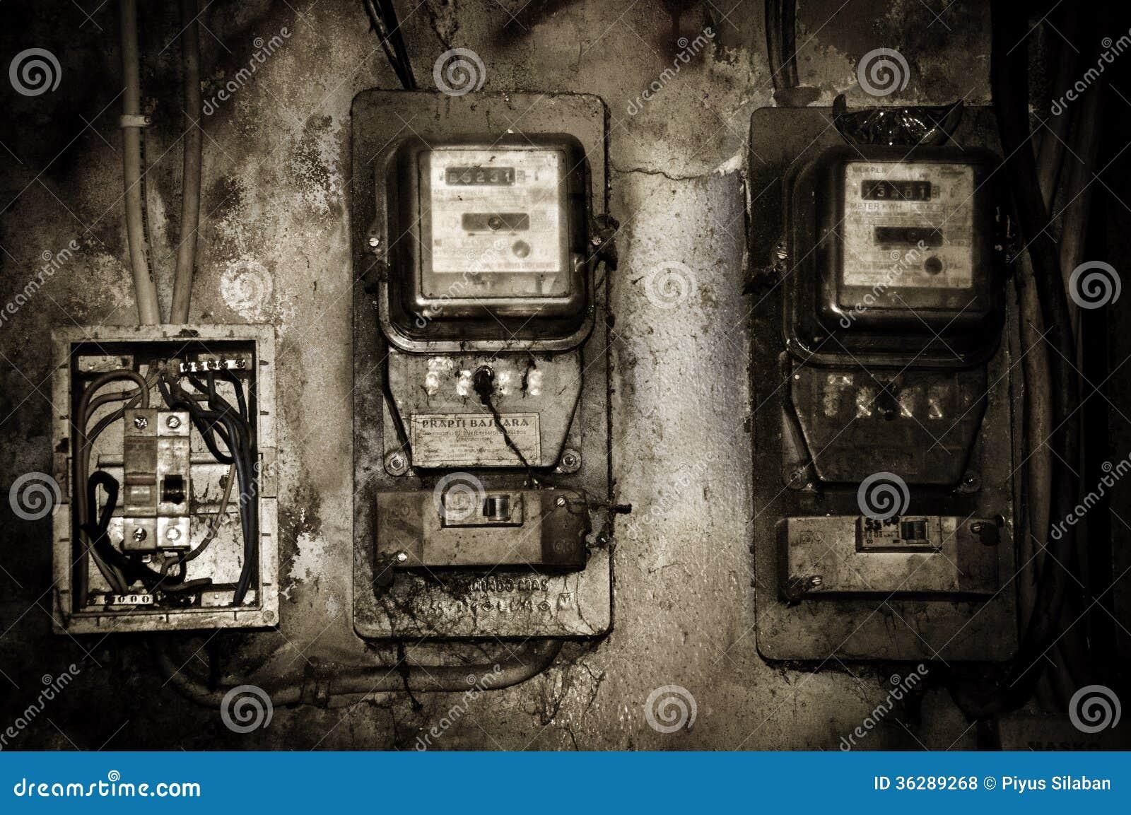 Alter Stromzähler Redaktionelles Stockfoto - Bild: 36289268