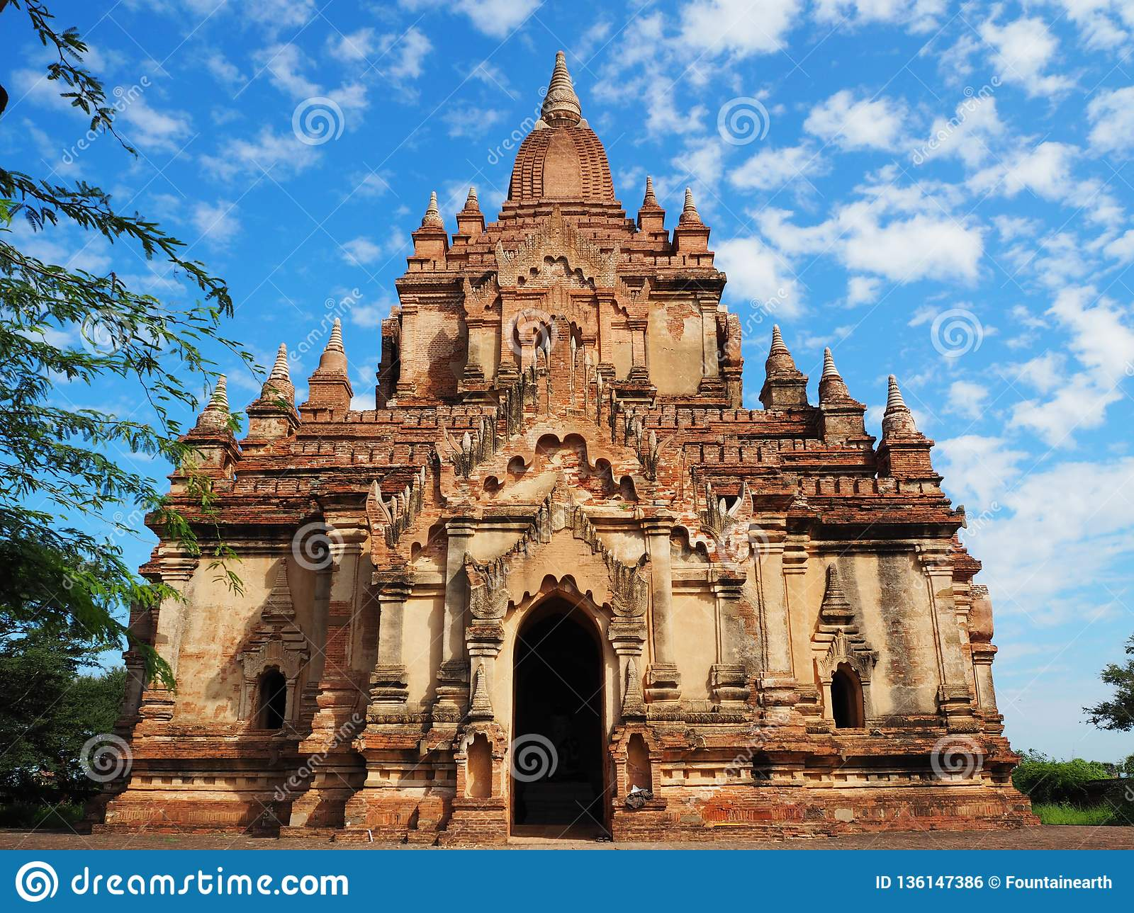 Alter Tempel-Standort in Bagan, Myanmar