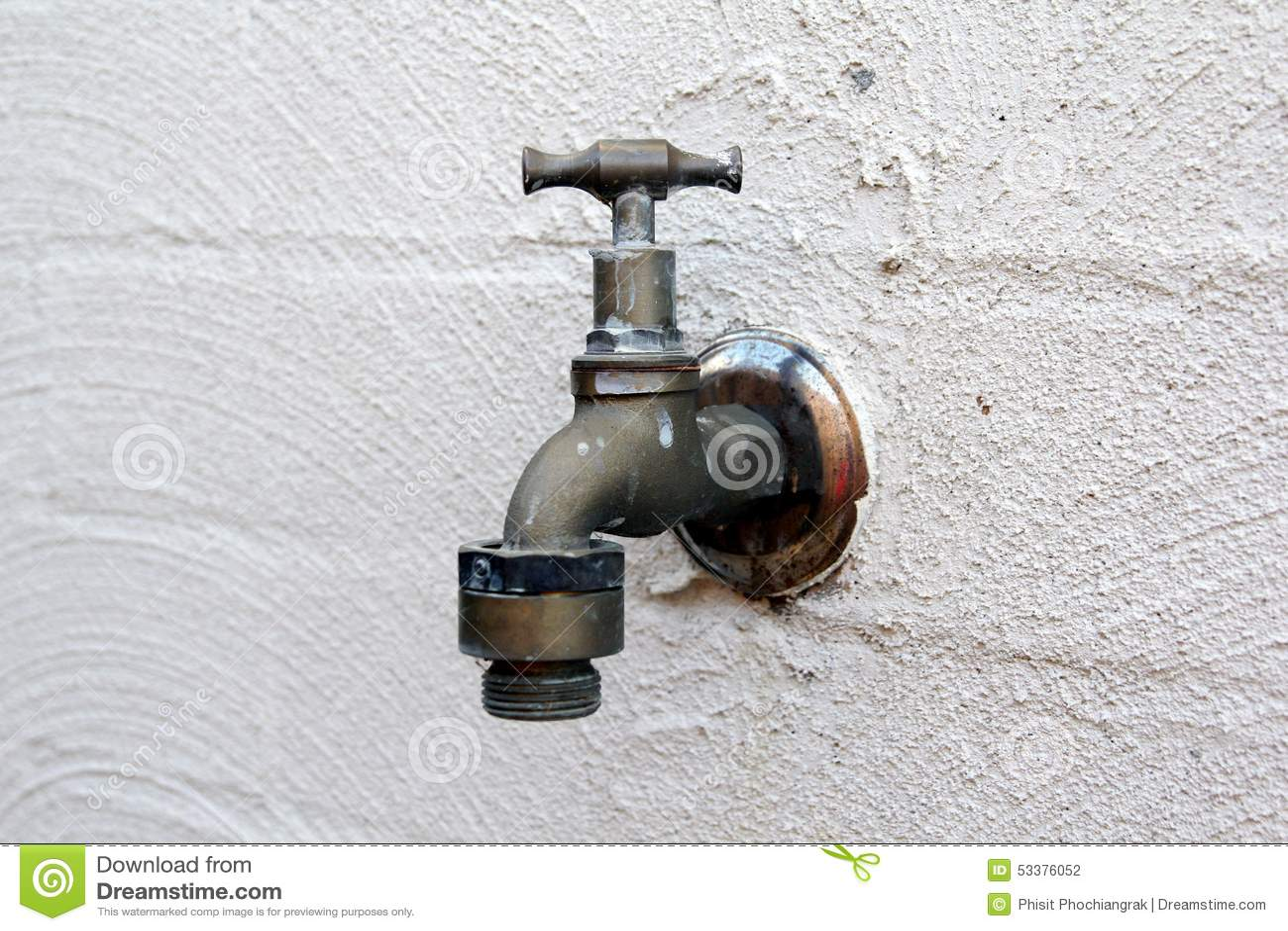 Alter Wasser Hahn Stockfoto Bild Von Outdoor Sauber 53376052