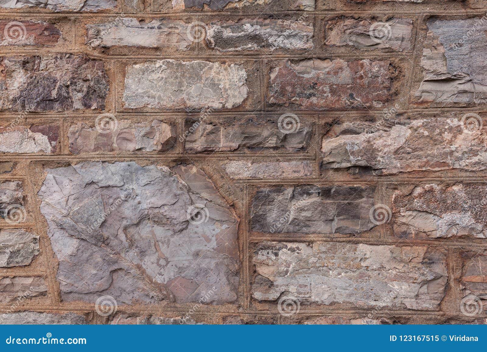 Alter wheathered Stein und brickwall
