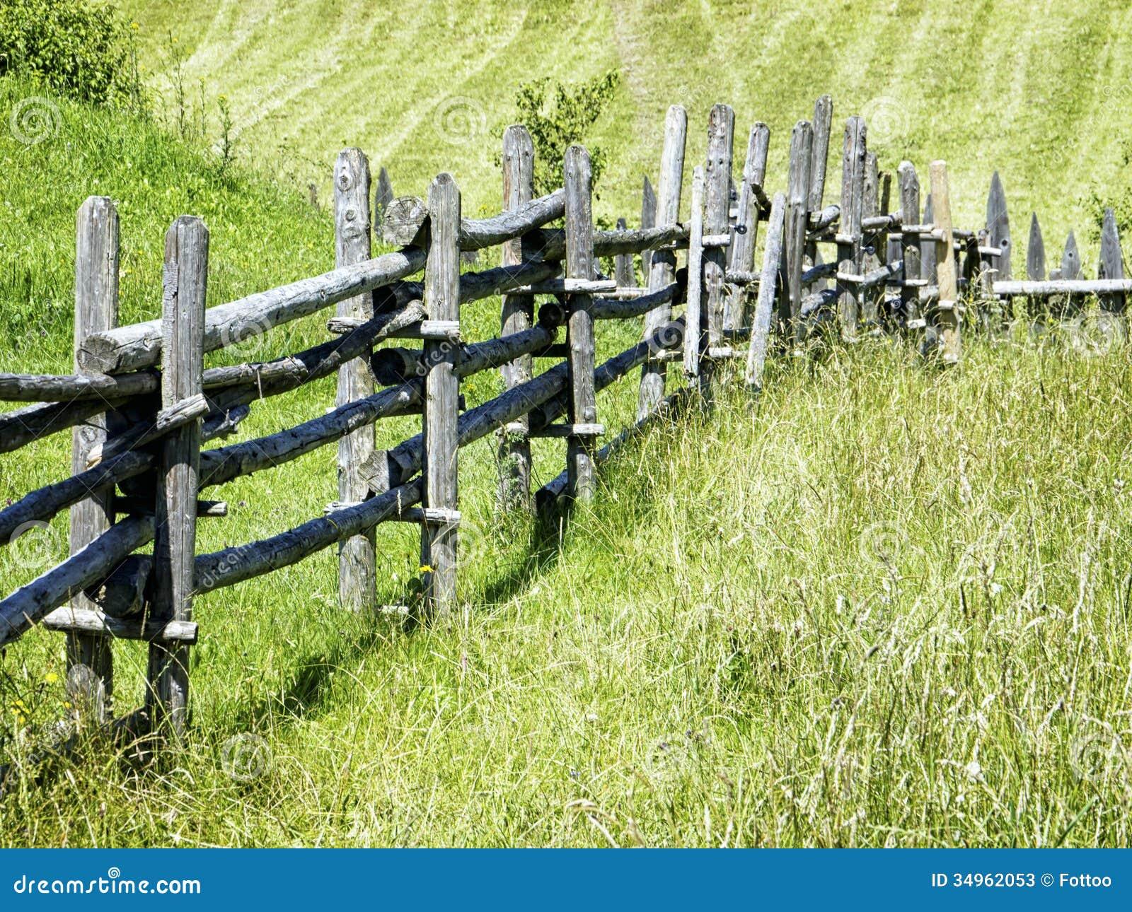 Alter Zaun Stockbild Bild Von Muster Bauernhof Field 34962053