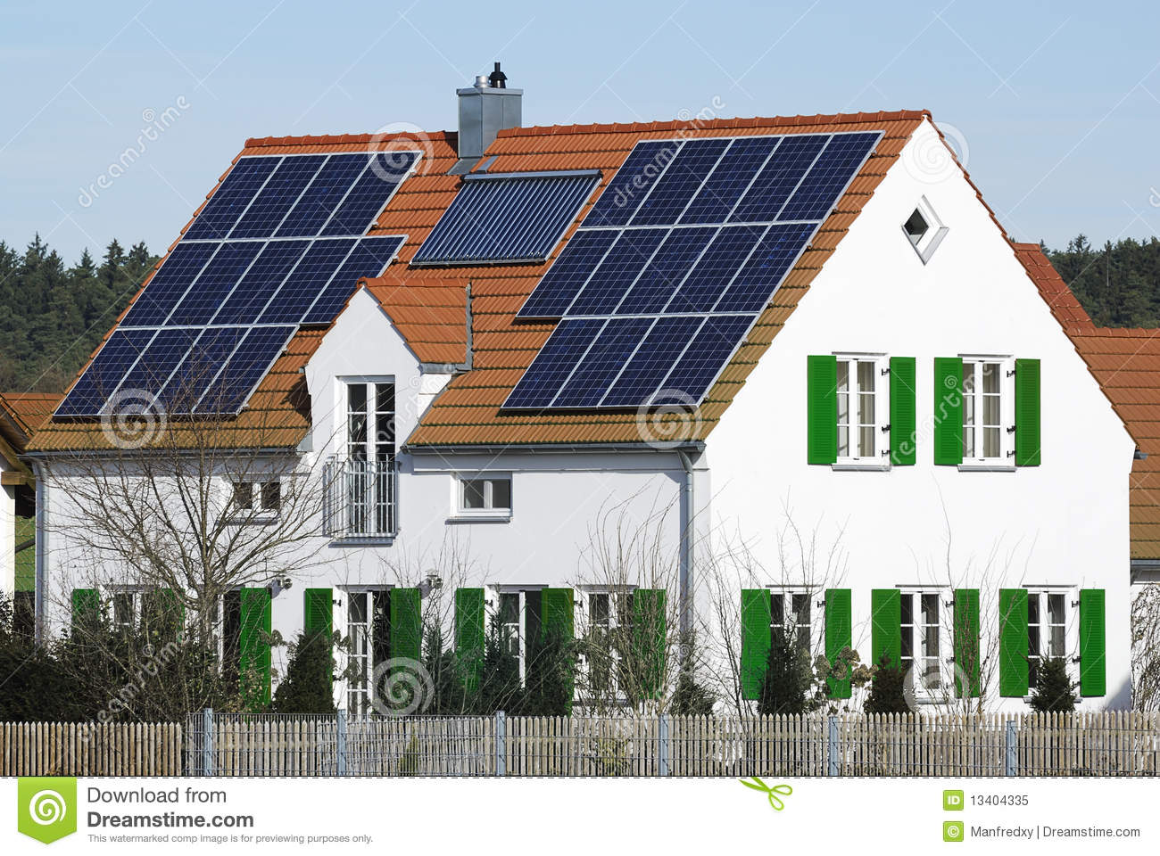 Alternative energy house royalty free stock photo image for Alternative heating systems for homes