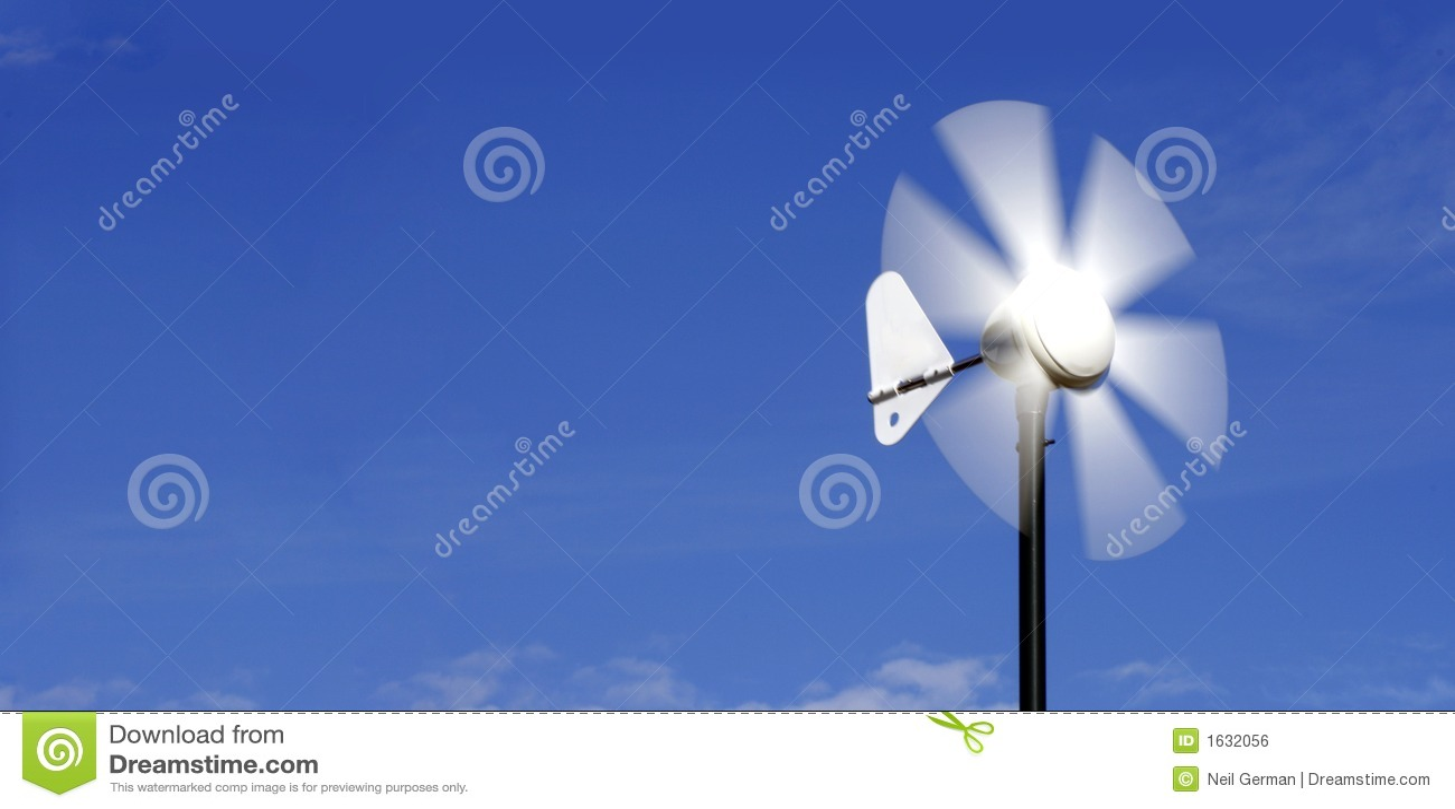 Alternative energy wind vane