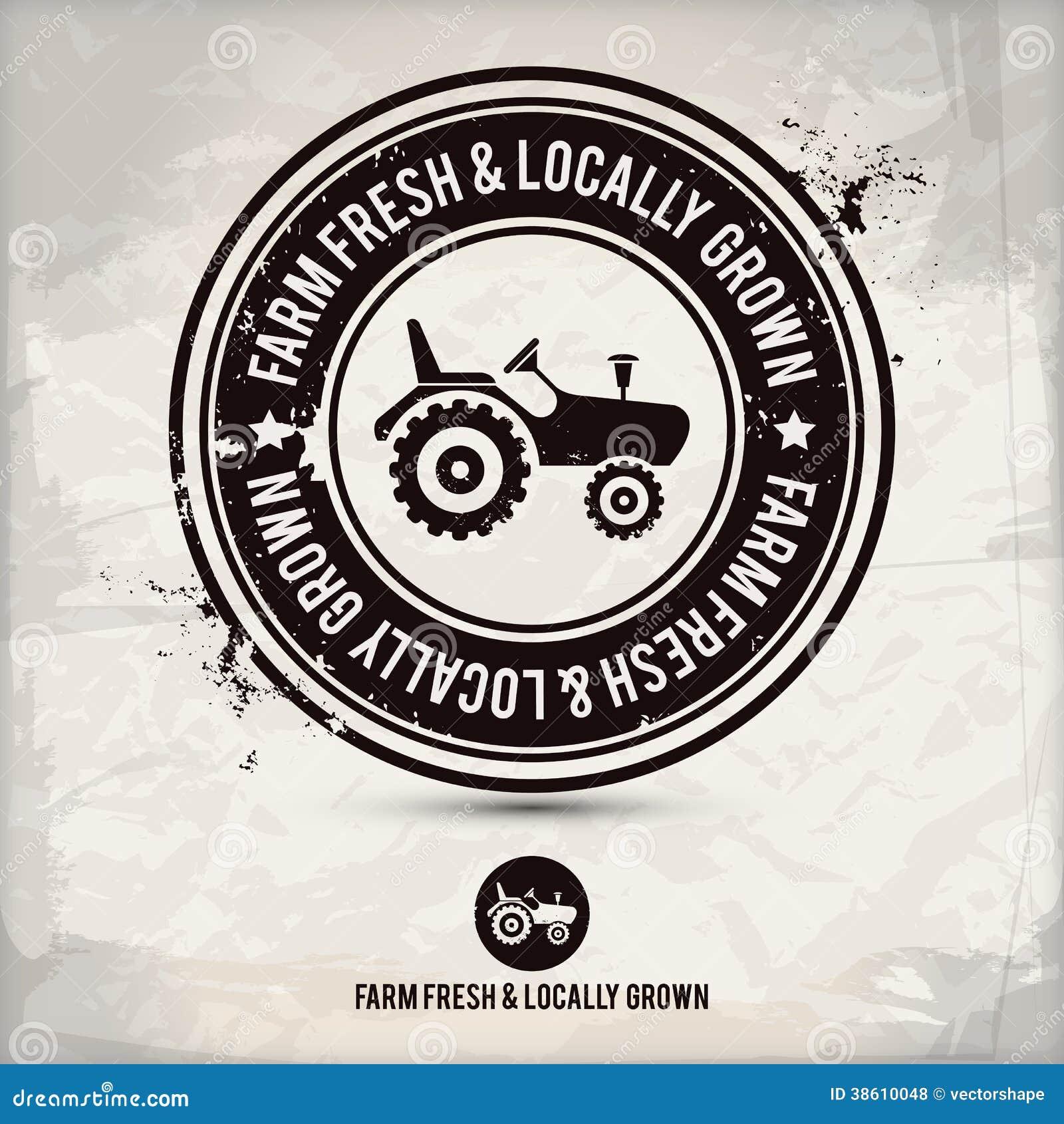Alternative Farm Fresh & Locally Grown Stamp Stock Vector ...