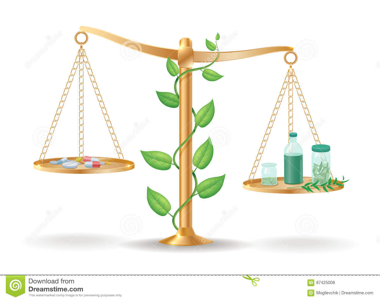 alternative medicine libra balance concept stock vector