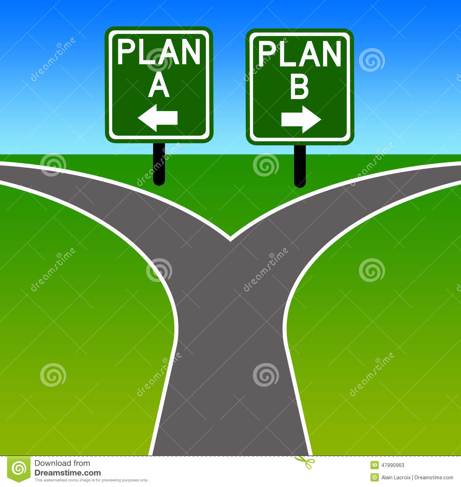 Alternative Plan Stock Illustration. Illustration Of