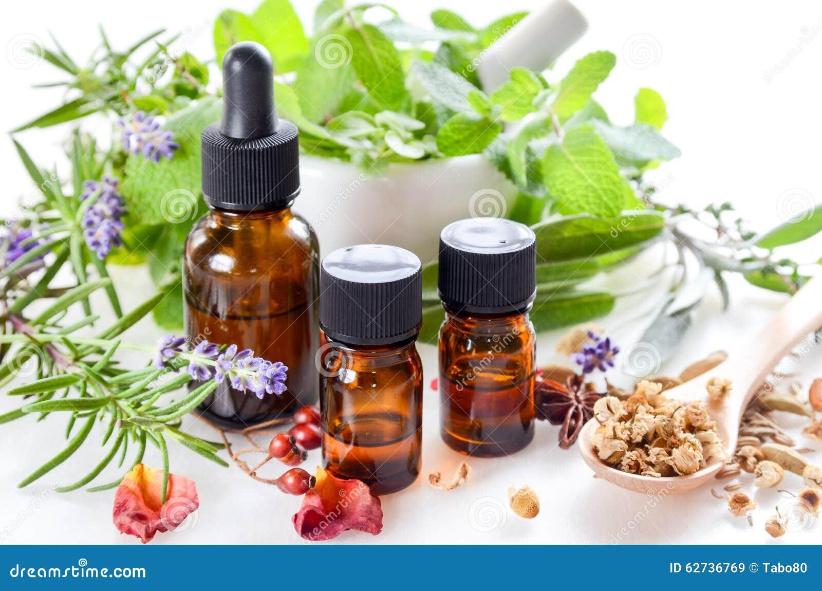 Alternative Therapie mit Kräutern und ätherischen Ölen
