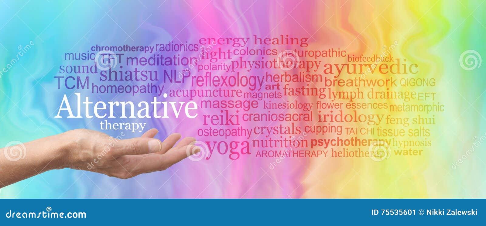 Alternative Therapie-Wort-Wolke