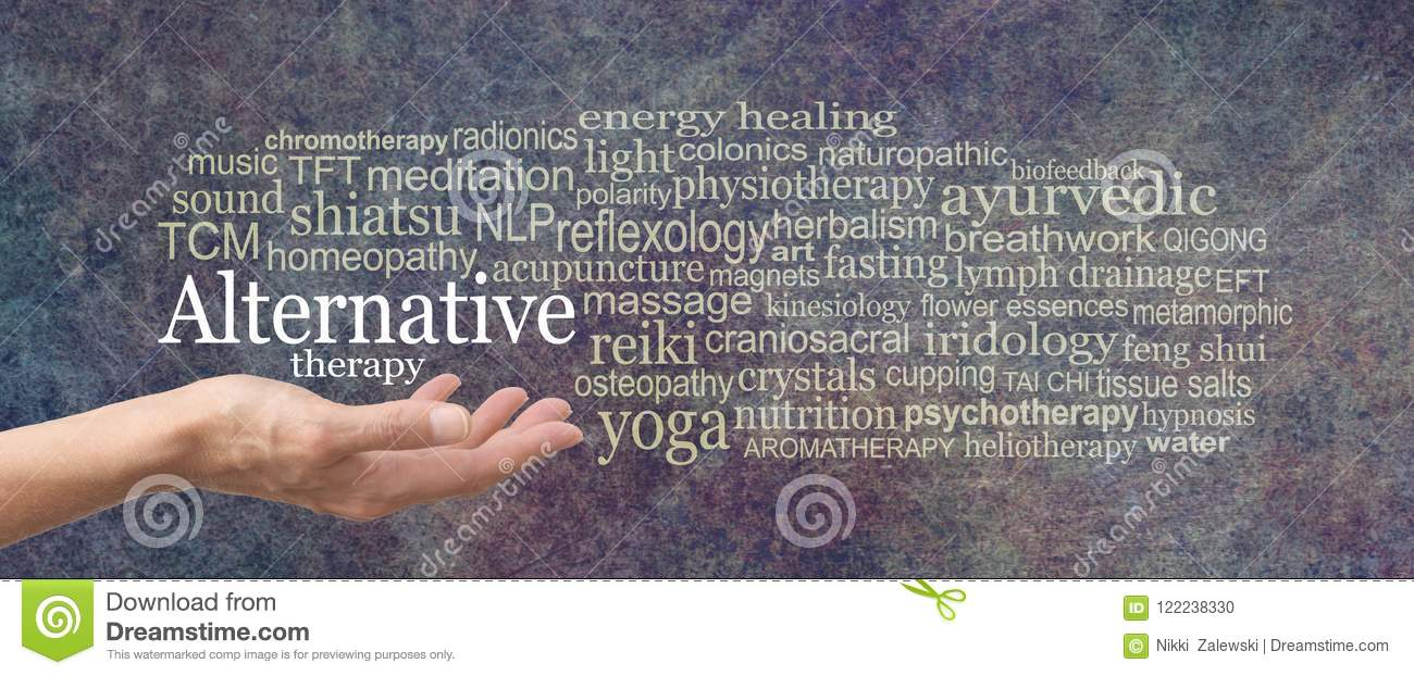 Alternative Therapy Word Tag Cloud