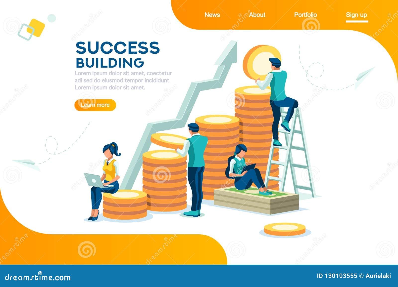 Alternativt finansiellt tillväxt för bank och framgångbegrepp