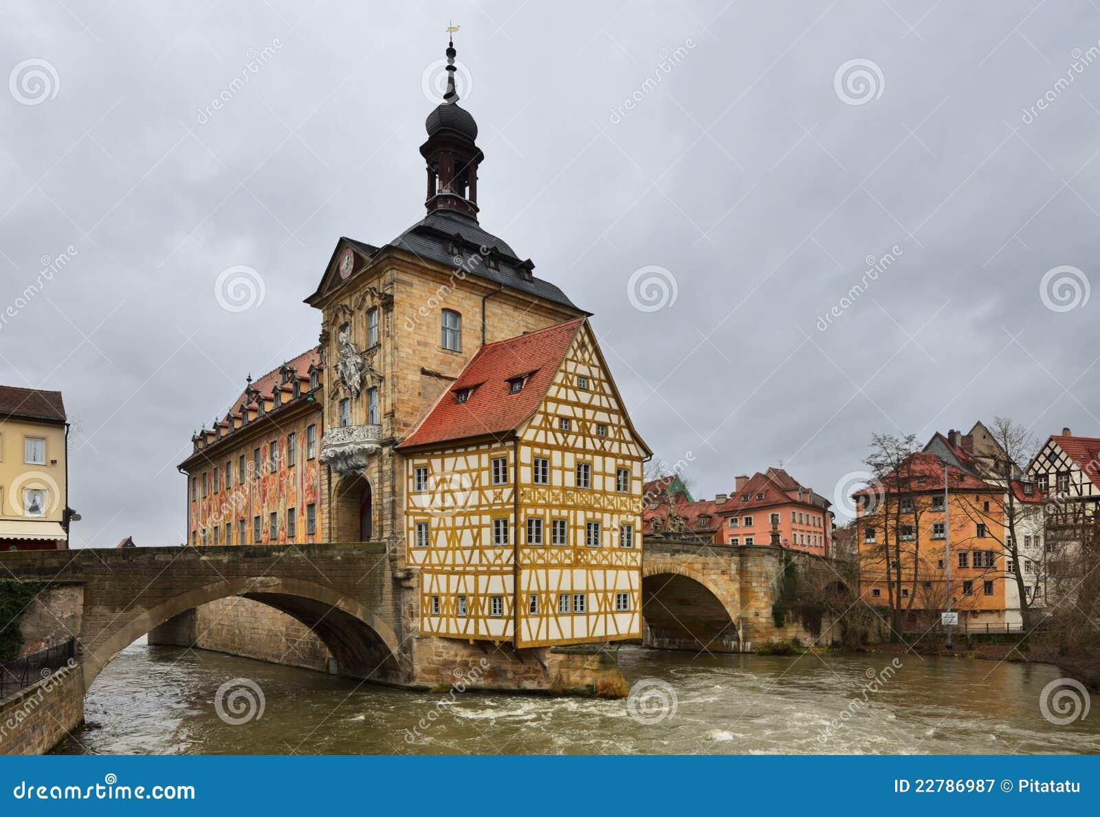Altes χειμώνας rathaus της Βαμβέργης &