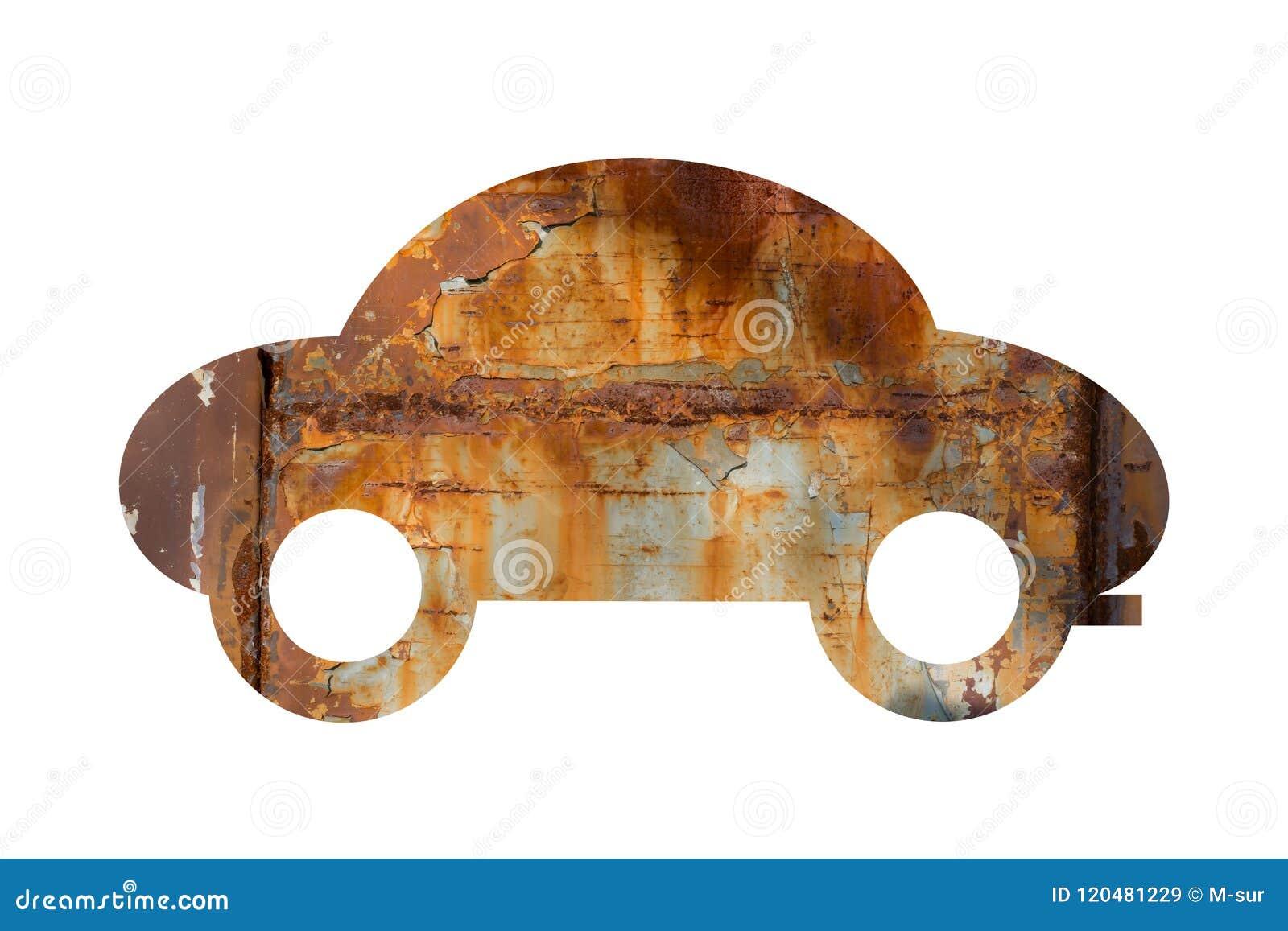Altes Auto ist rostig und korrodiert