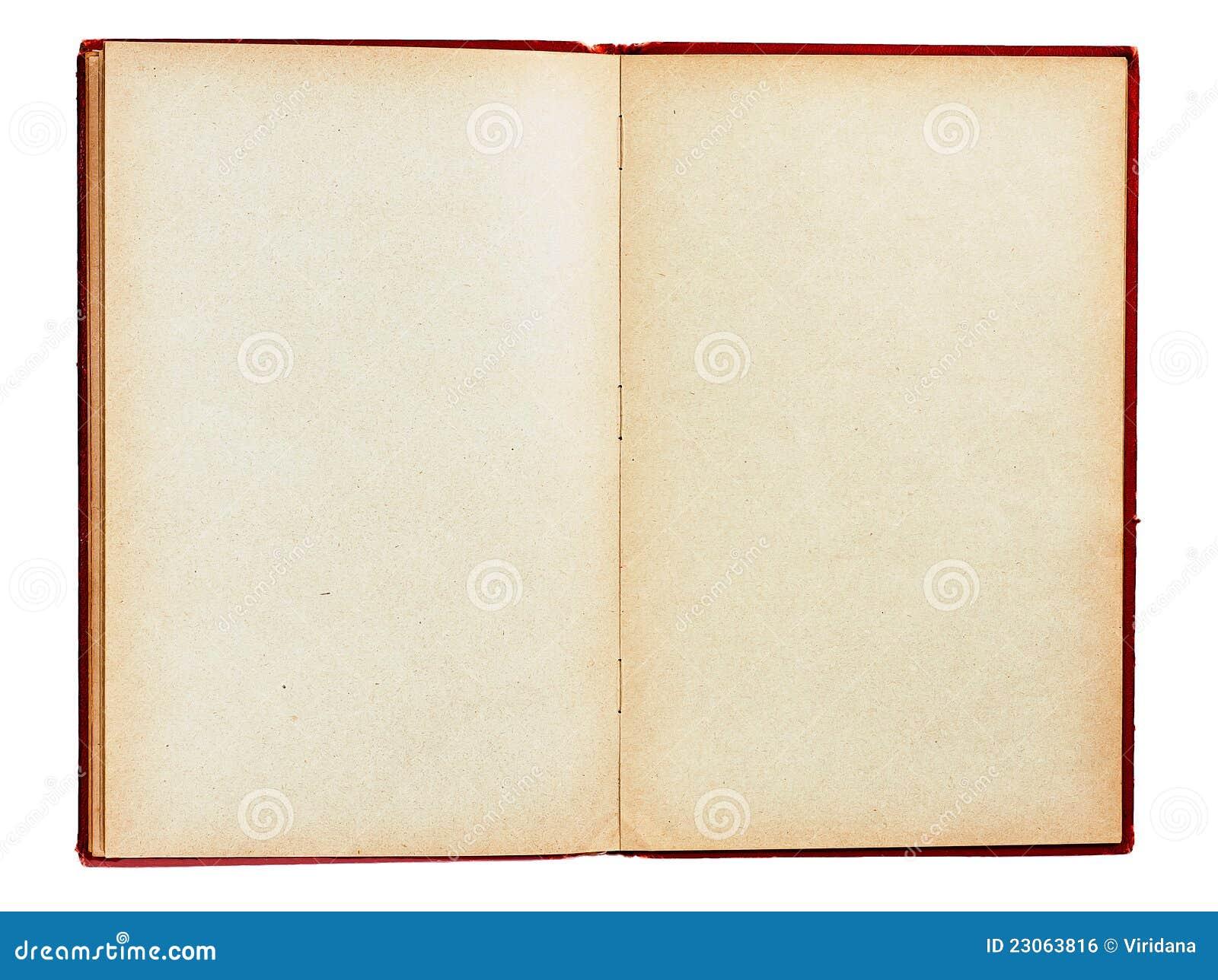 Altes Buch mit den leeren Seiten getrennt