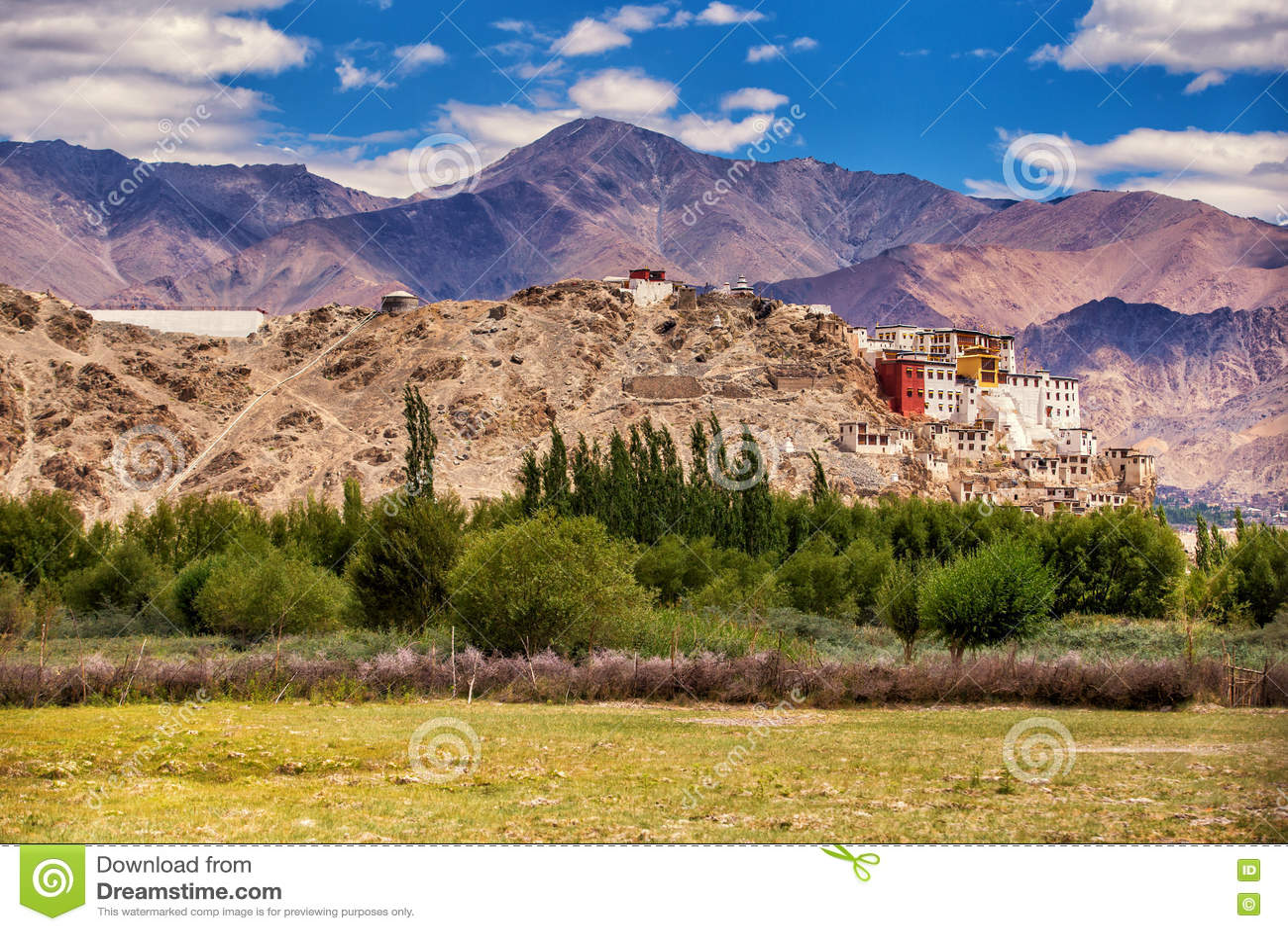 Altes buddhistisches Thiksey-Kloster, Leh-Ladakh