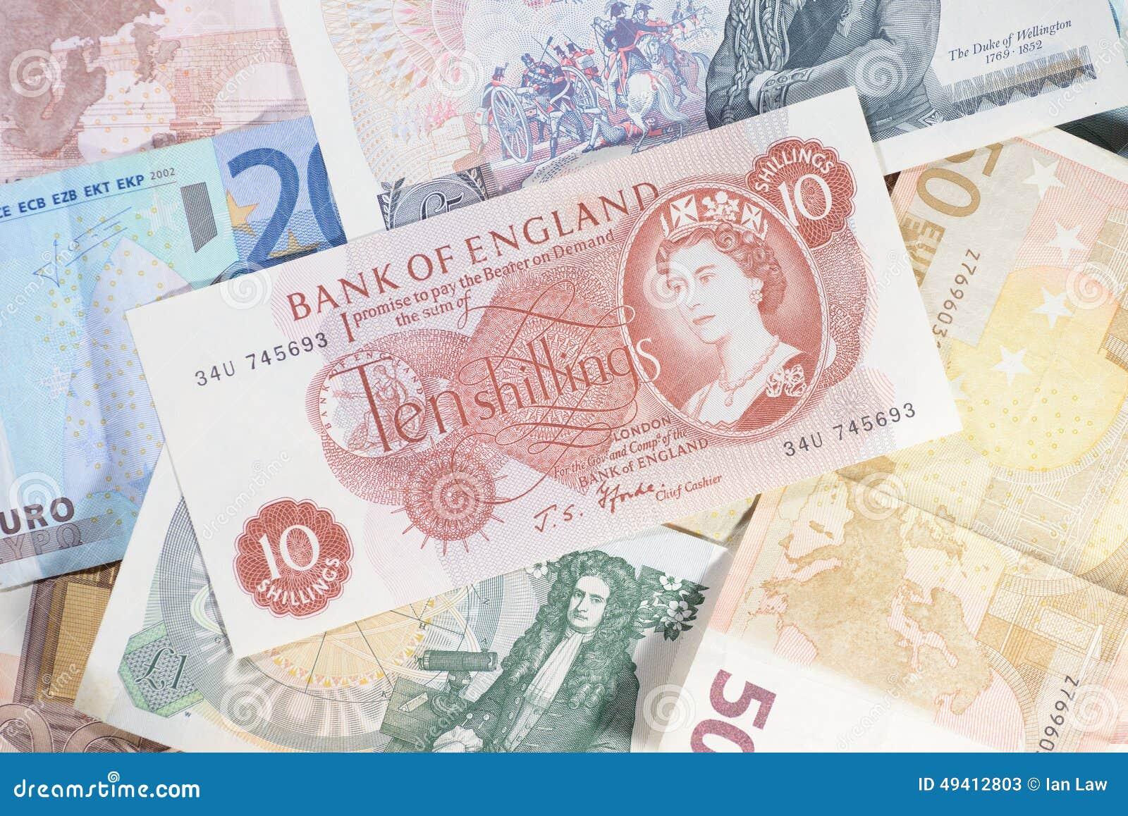 Download Altes Englisch Sterling stockbild. Bild von finanzierung - 49412803