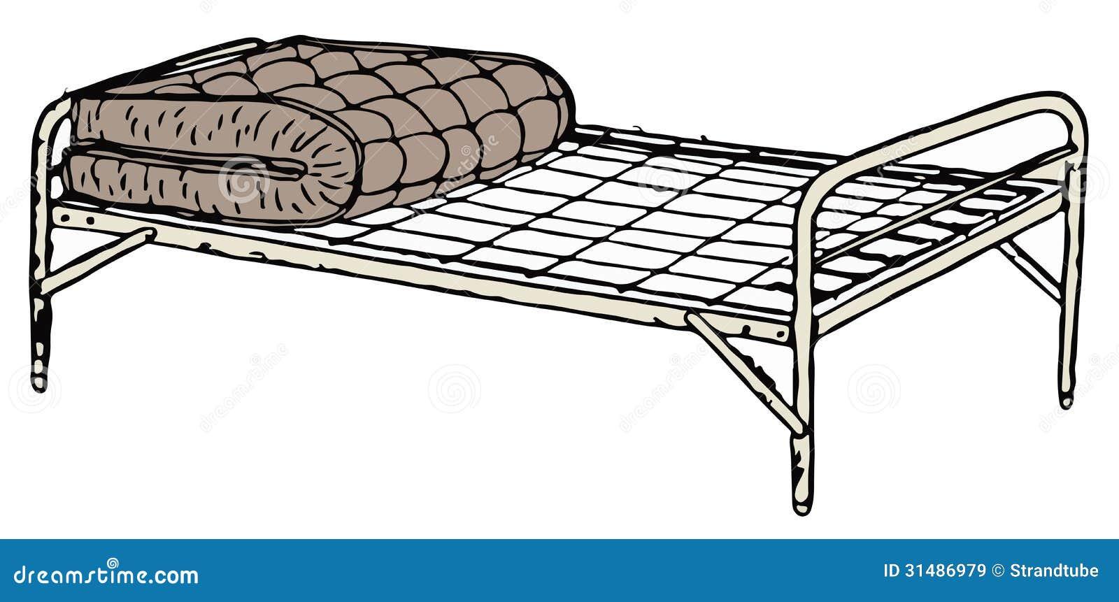 altes feldbett bett stock abbildung bild von antike 31486979. Black Bedroom Furniture Sets. Home Design Ideas