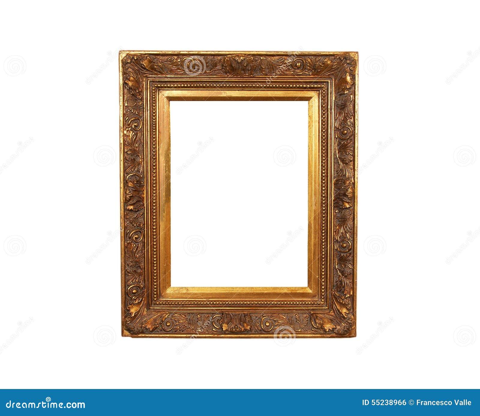 Altes Französisches Gold Gemalter Hölzerner Rahmen Stockfoto - Bild ...