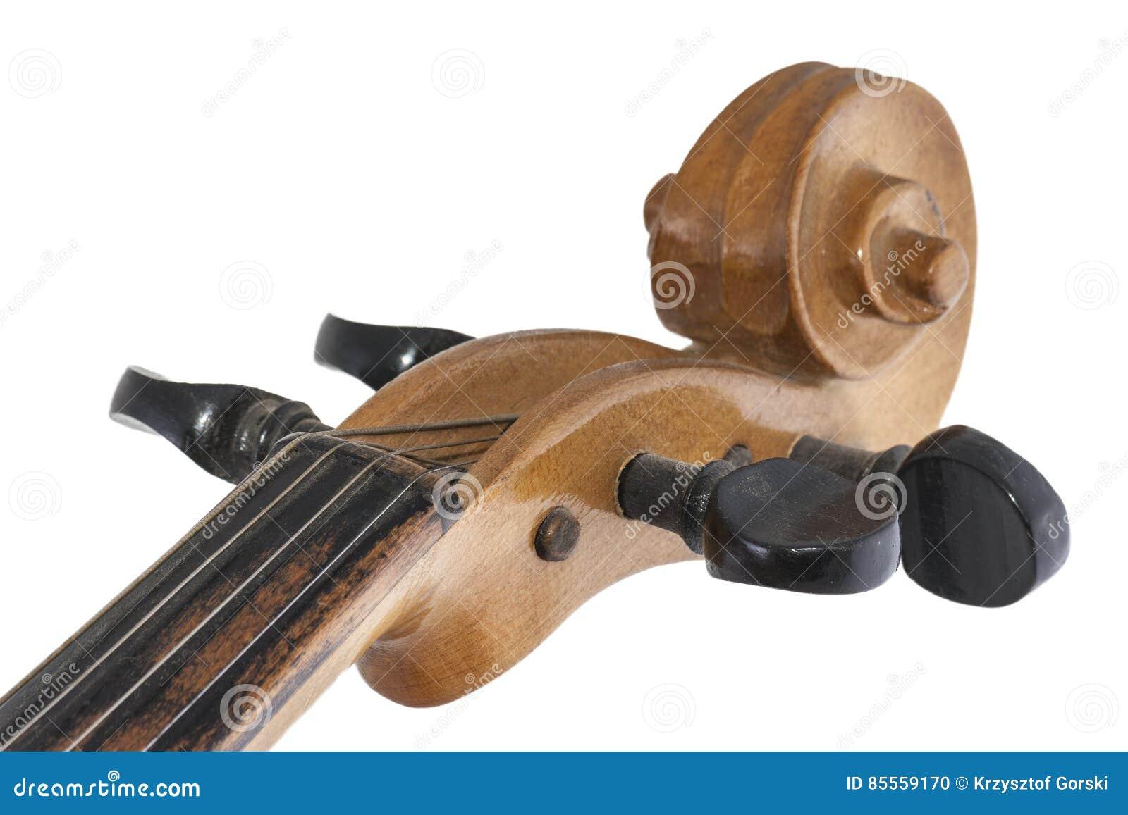 Altes hölzernes Violinendetail