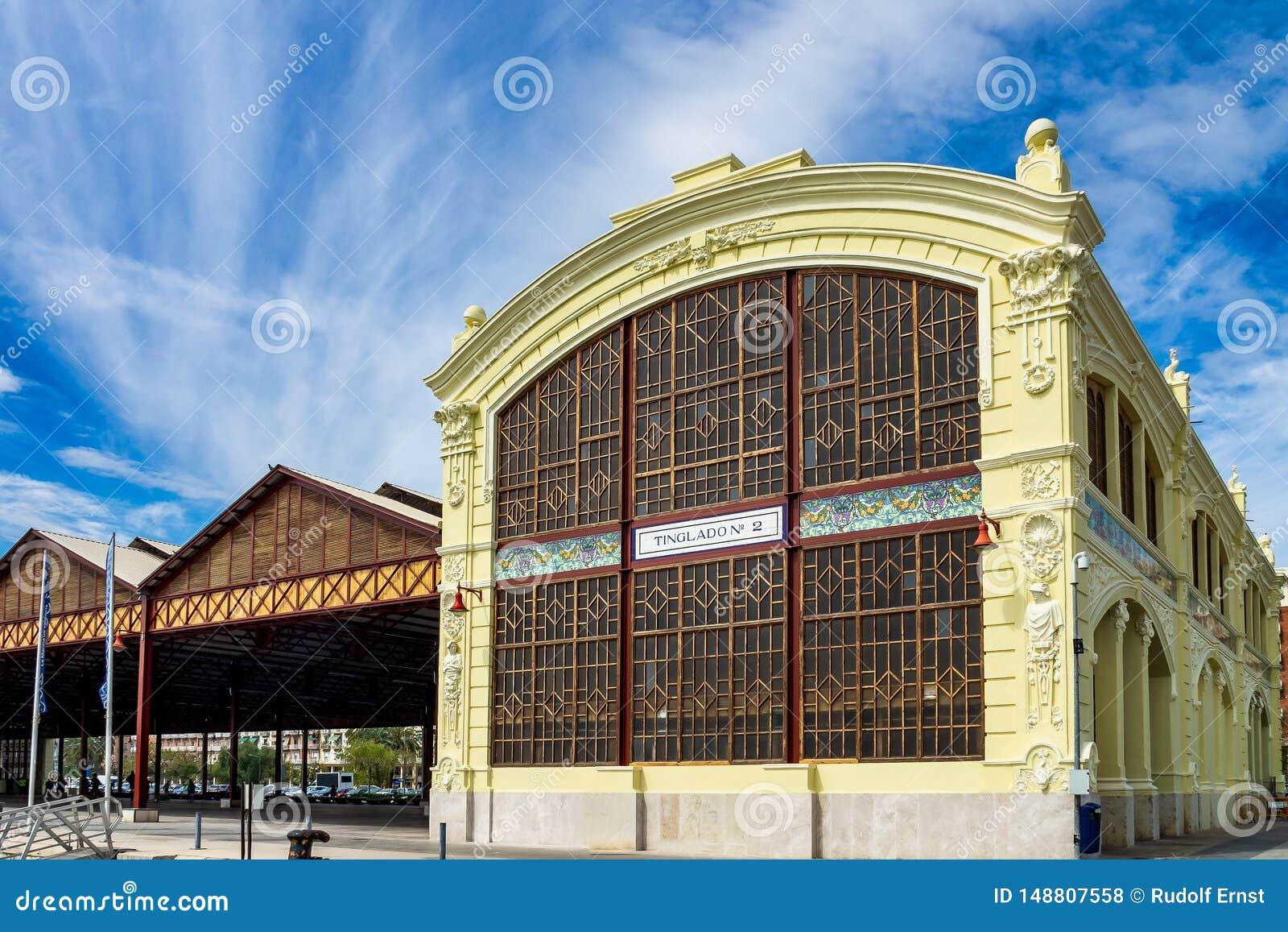 Altes Industriegeb?ude in Puerto Sagunt in Valencia Spanien
