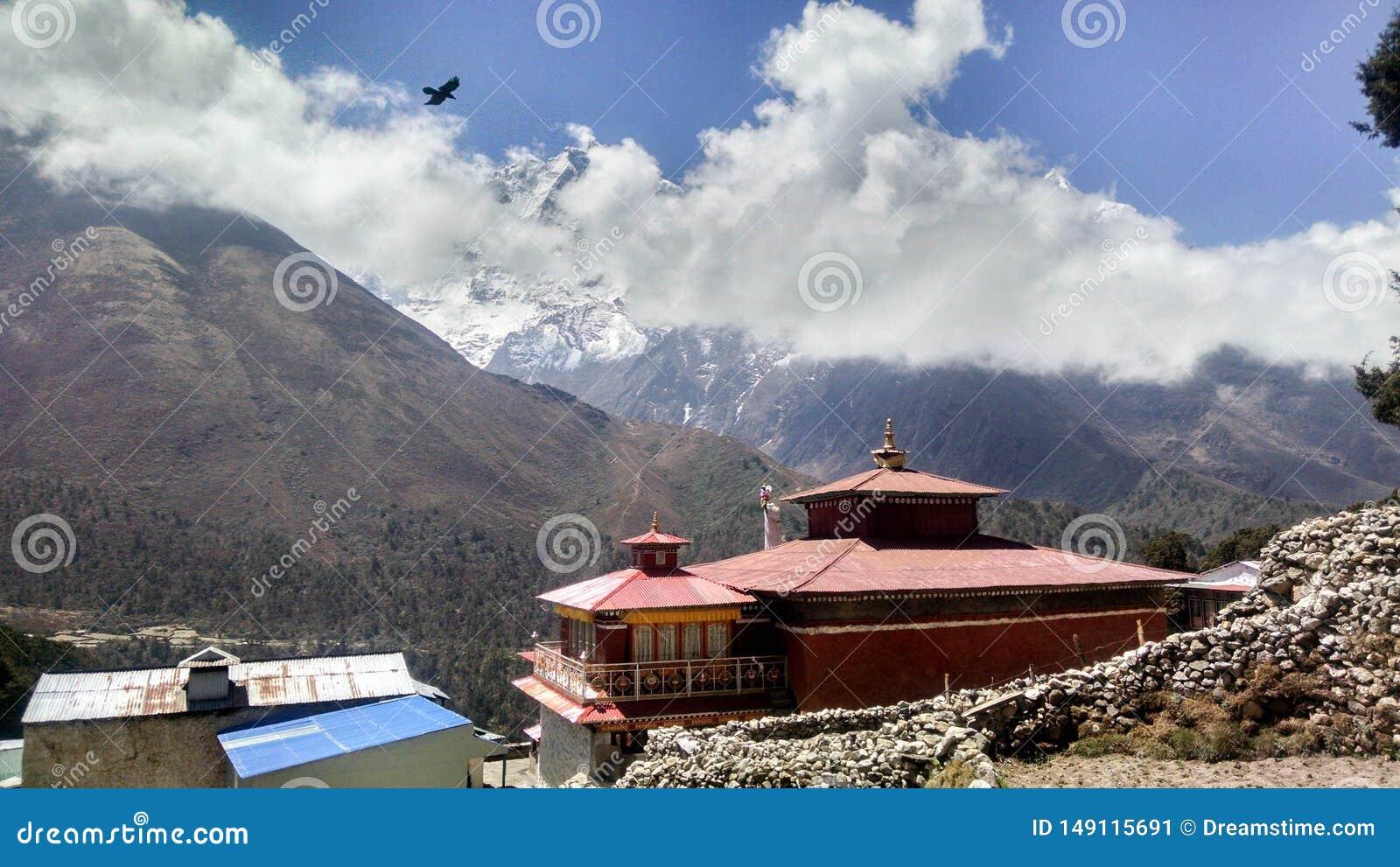 Altes Kloster im Himalaja Nepal