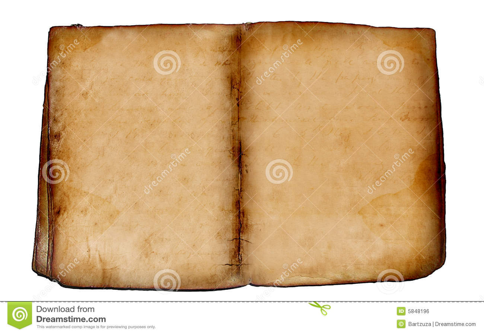 Altes Leeres Buch Lizenzfreies Stockbild - Bild: 5848196