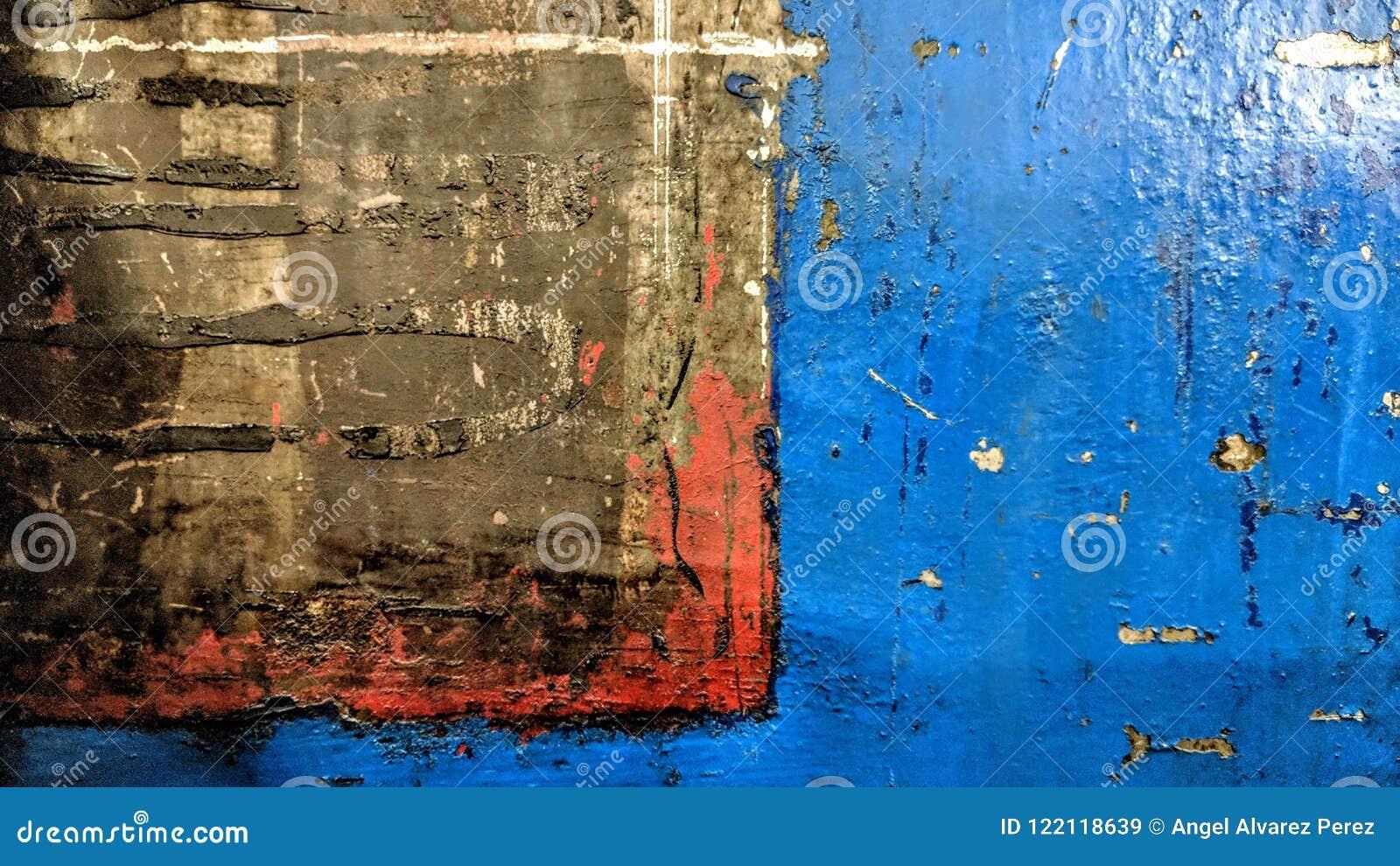 Altes Metallplattengetragen und markiert bis