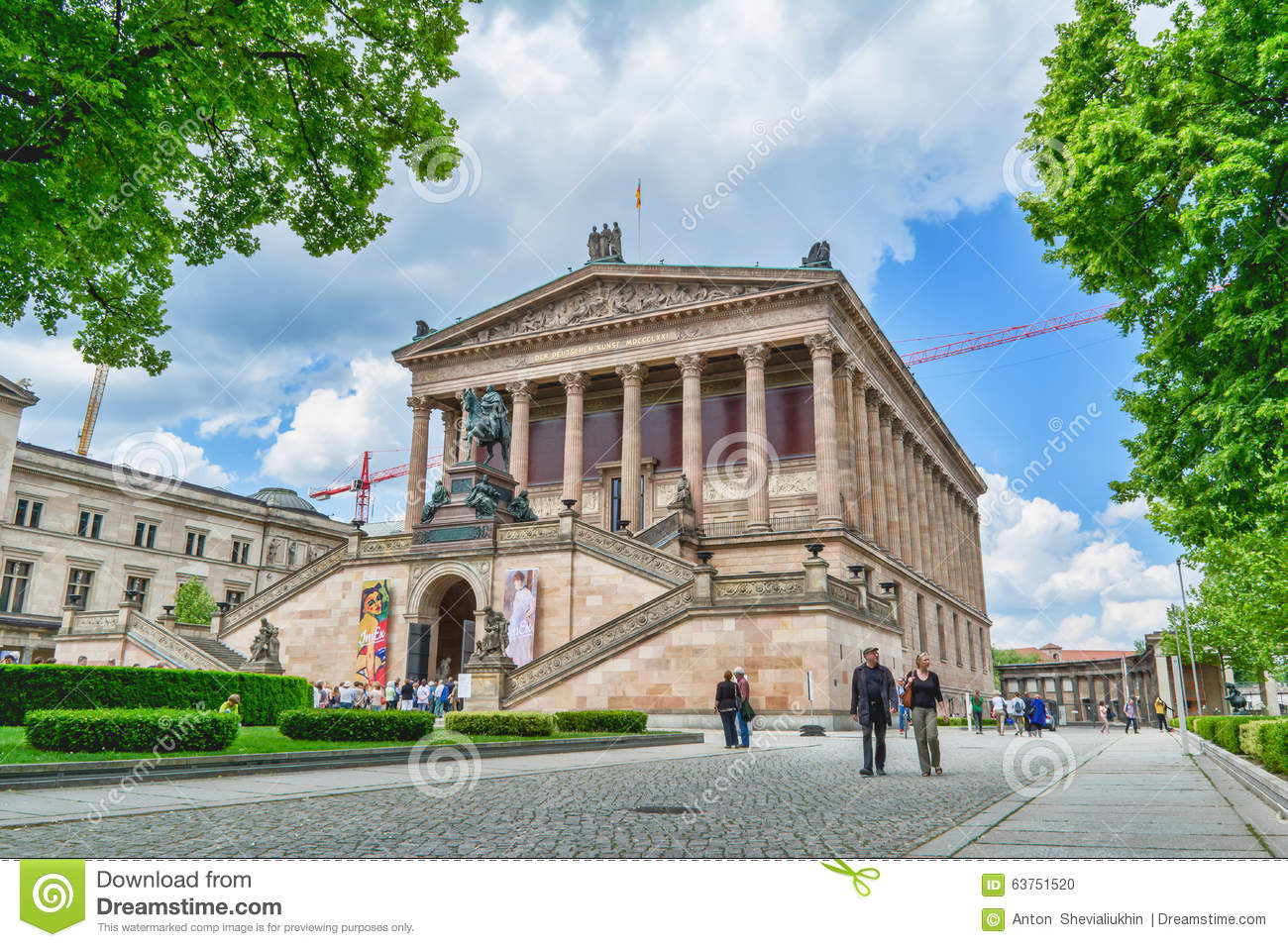 Altes Museum. German Old Museum in Berlin on sunny day.