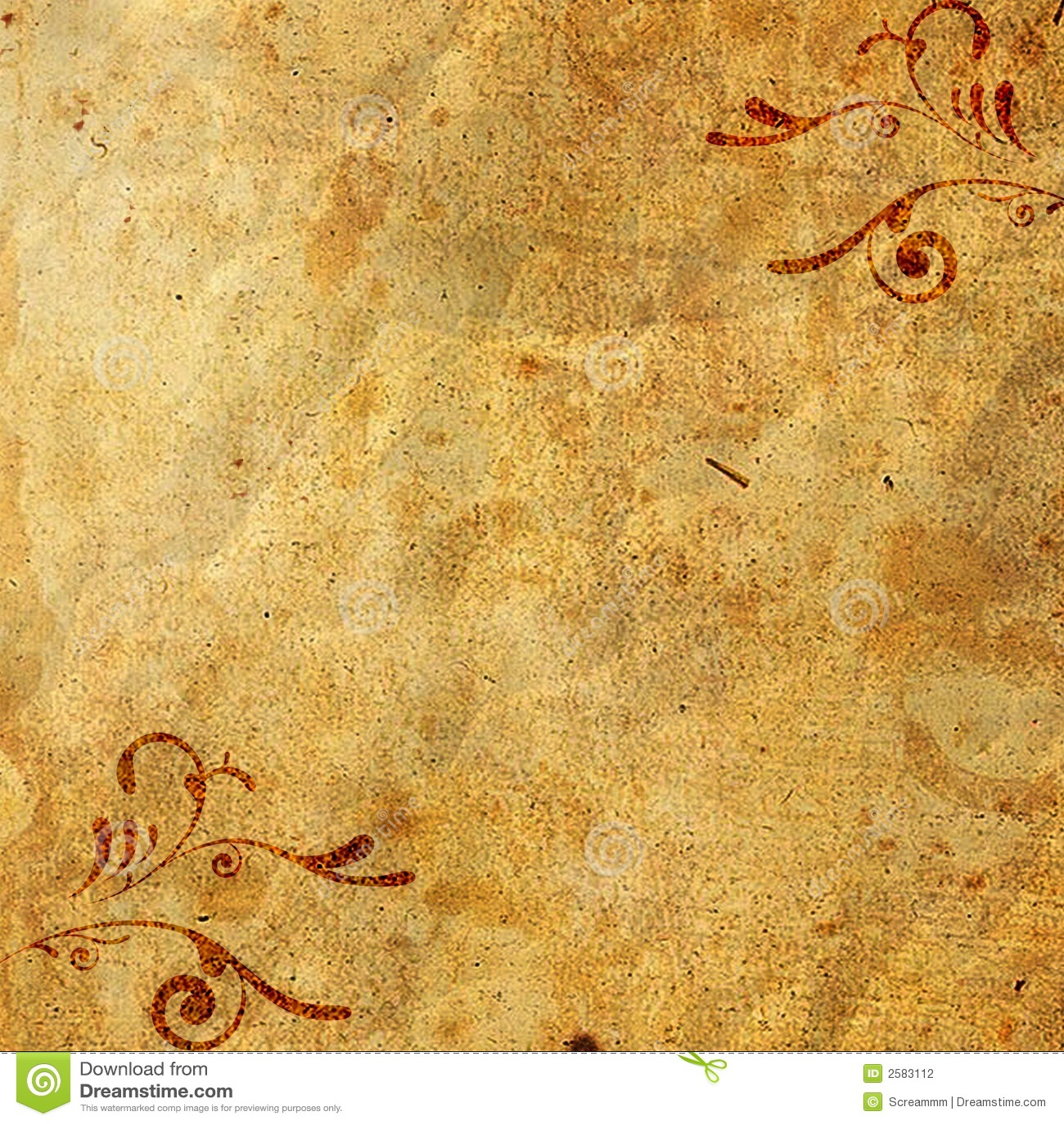 Altes Papier Auf Verzierung Stockfotografie - Bild: 2583112