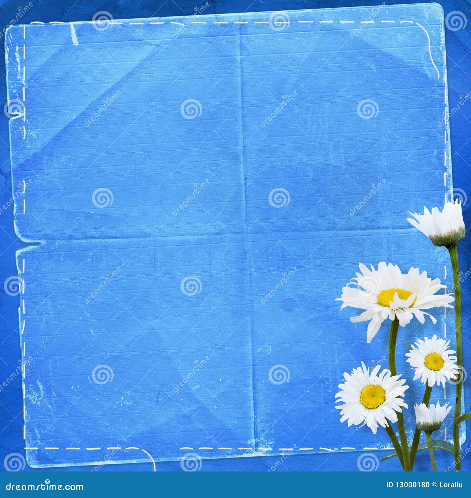 Altes Papier mit Blumenstrauß